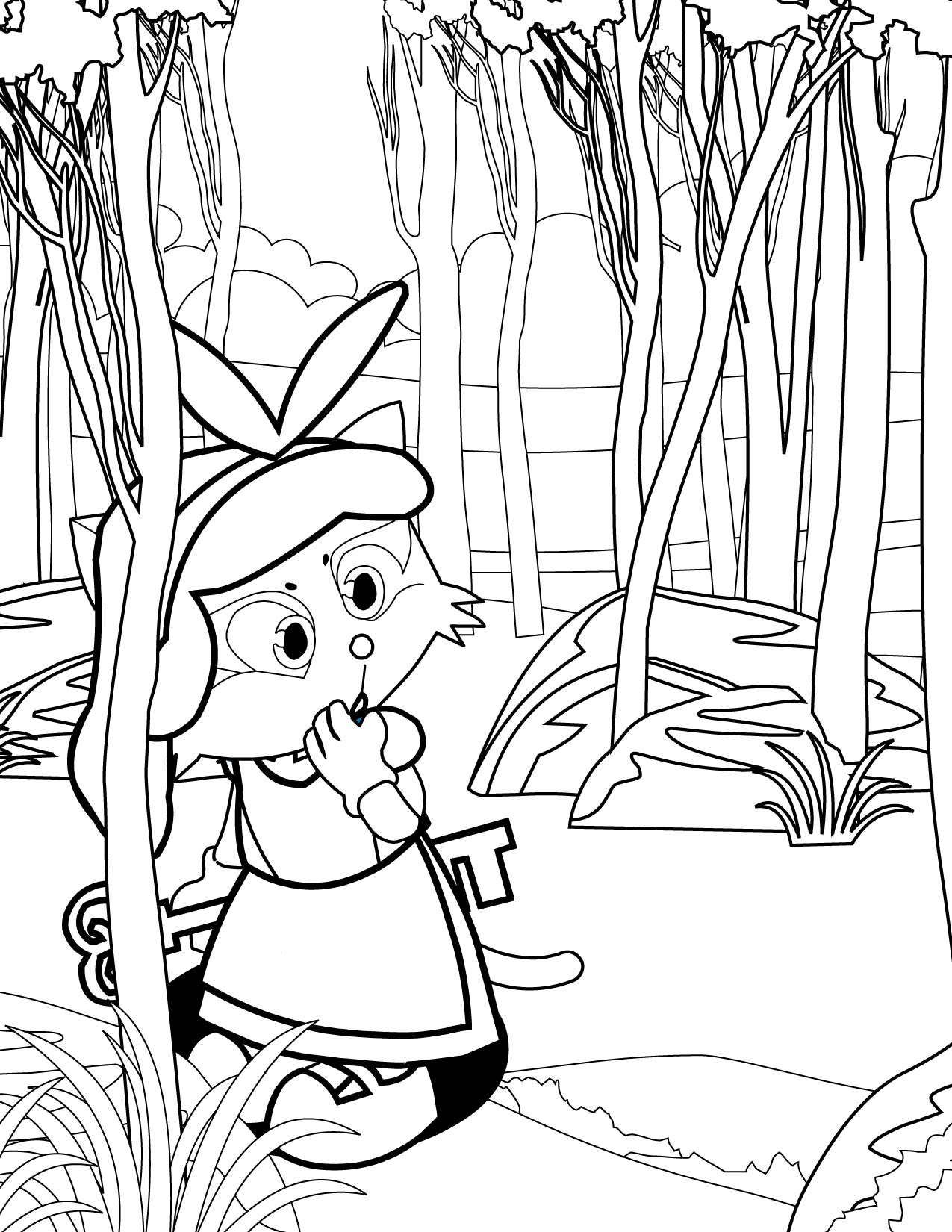 alice in wonderland coloring page handipoints