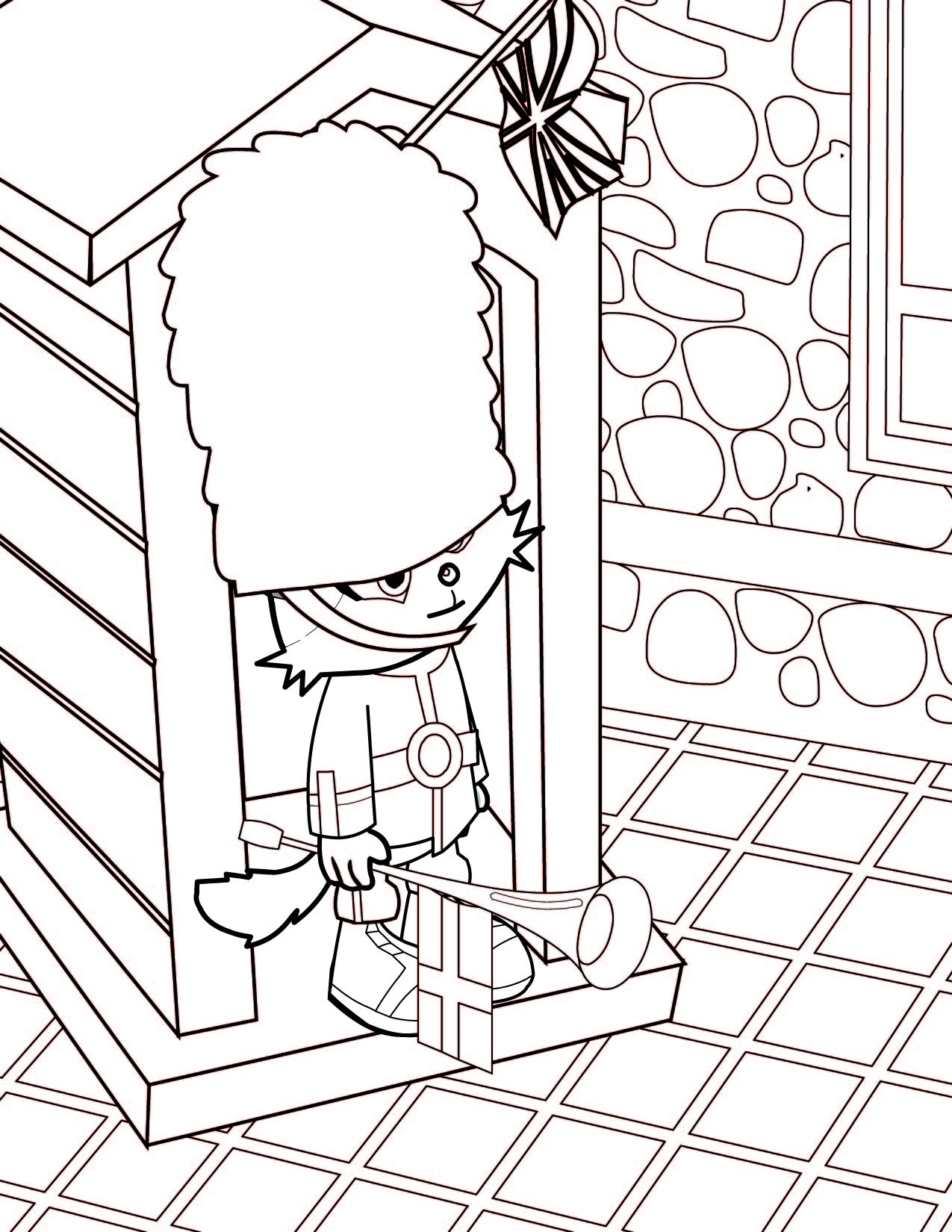 british guard coloring page handipoints