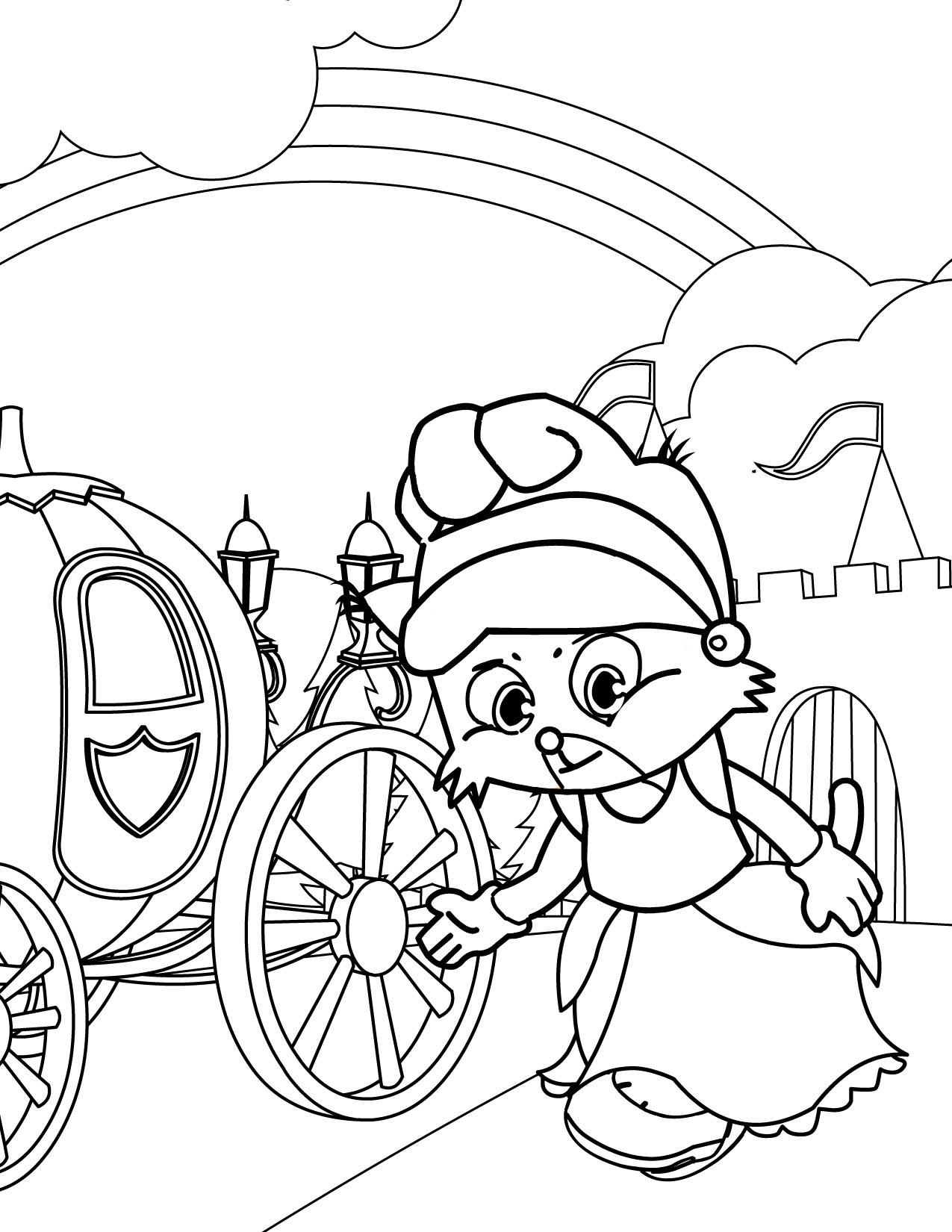 cinderella coloring page handipoints