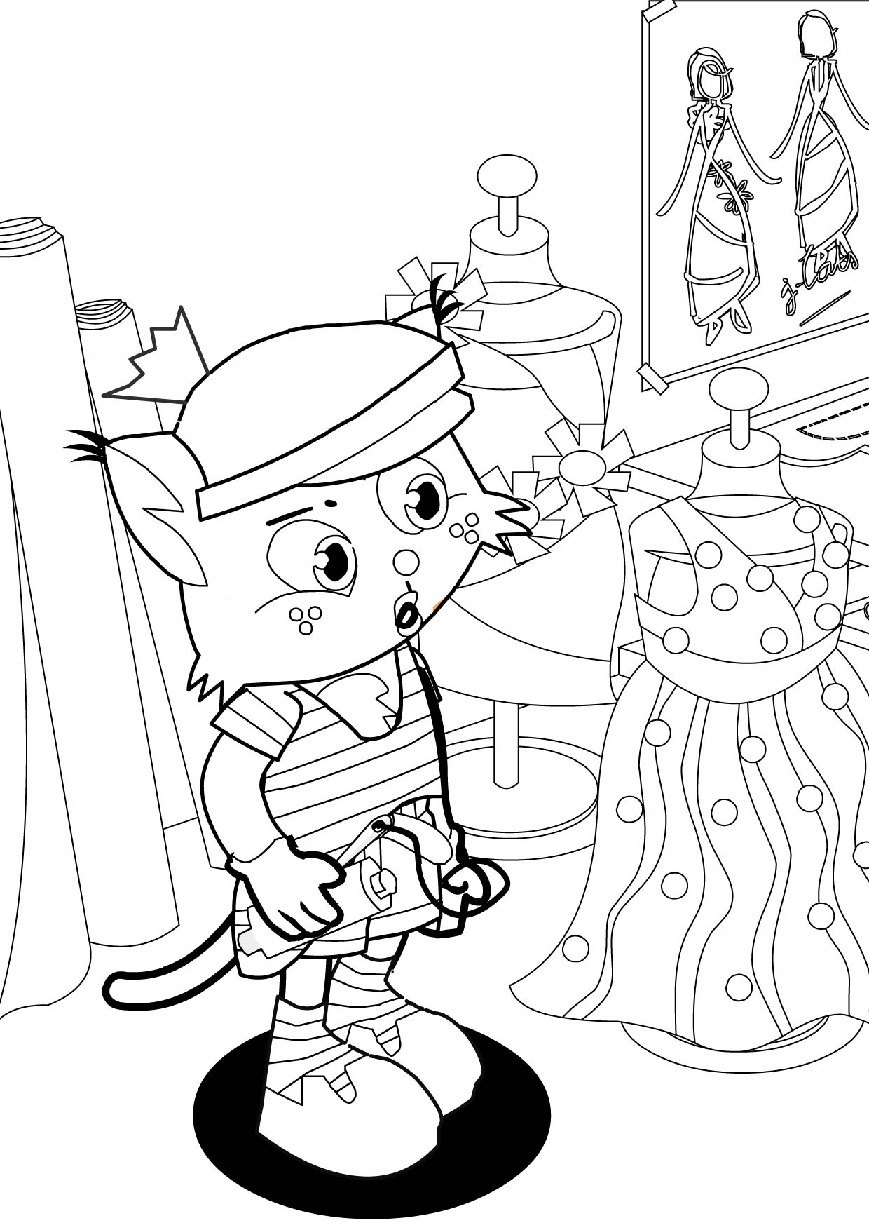 Fashion Designer Coloring Page Handipoints