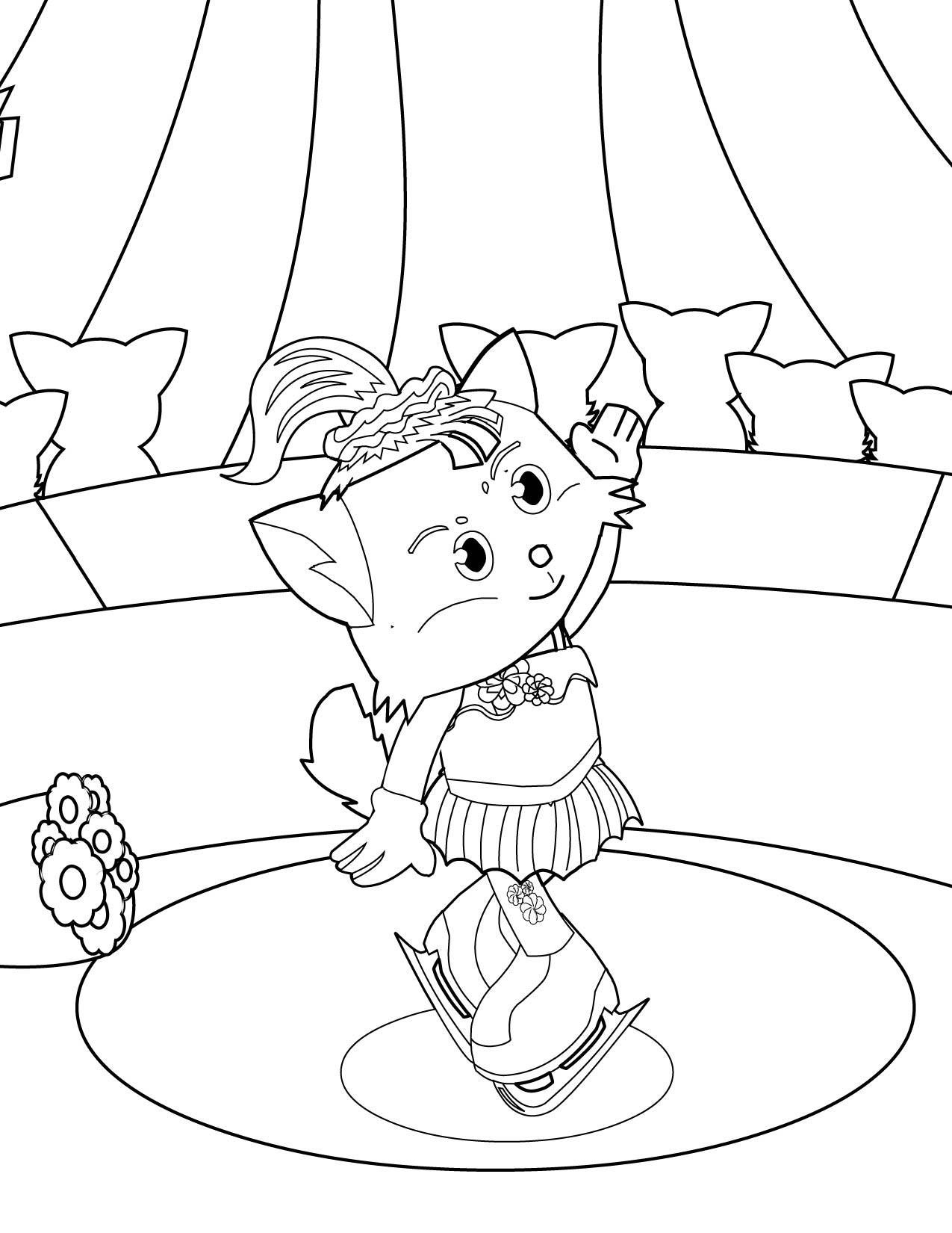 figure skater coloring page handipoints