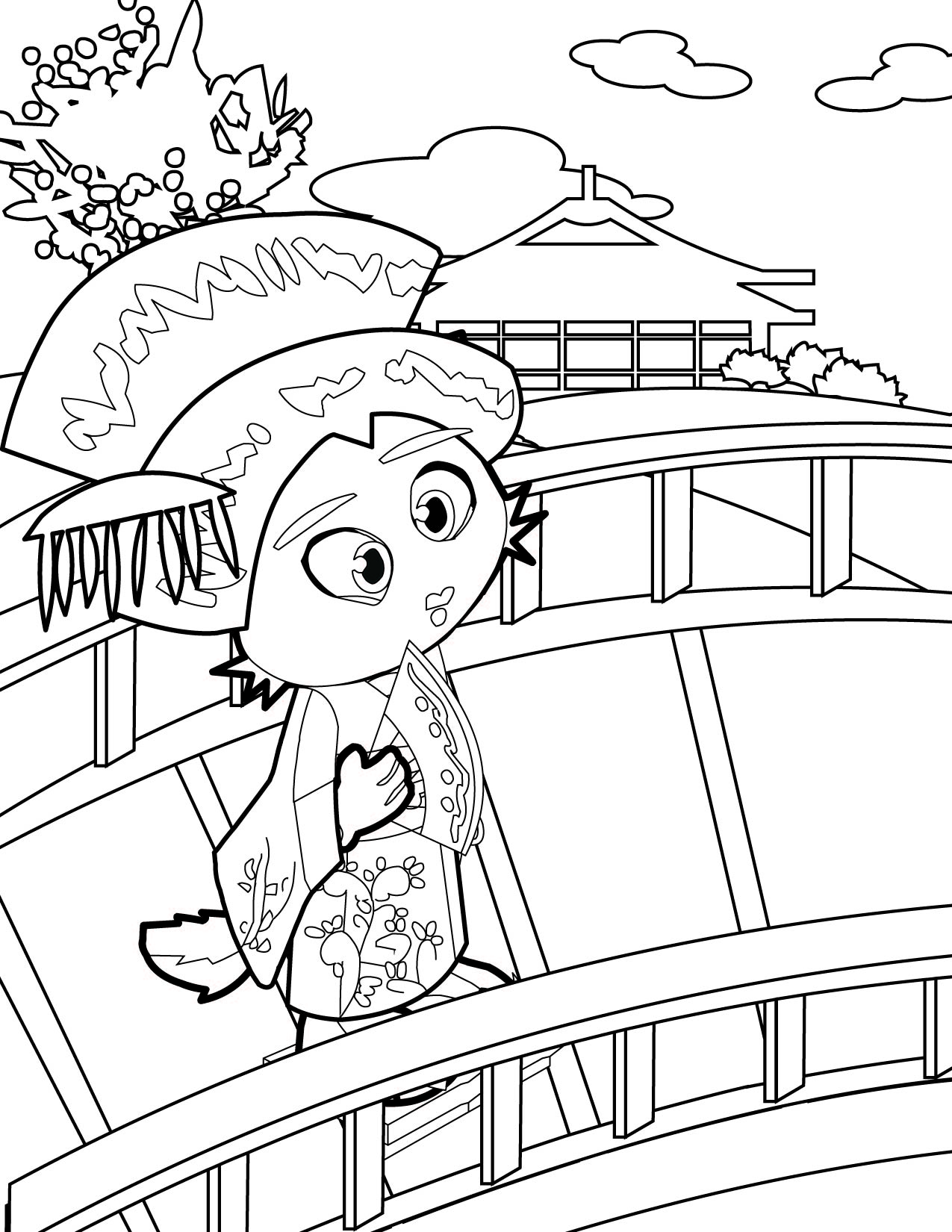 Uncategorized Geisha Coloring Pages geisha coloring page handipoints geisha