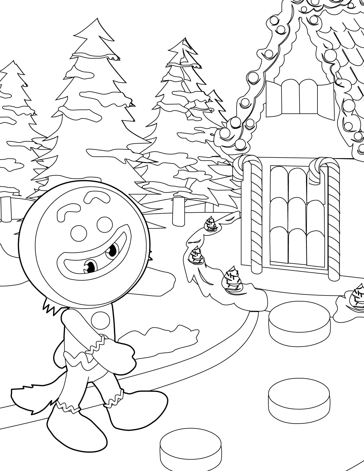 Gingerbread Man Coloring Page  Handipoints