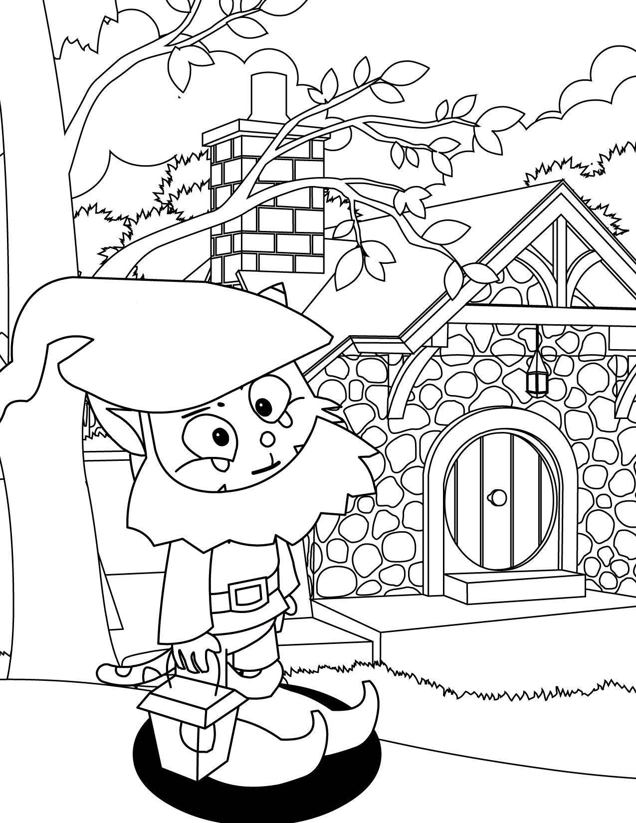 Gnome Coloring Page - Handipoints