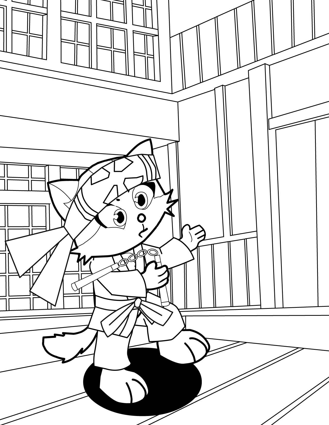 Karate Kat Coloring Page