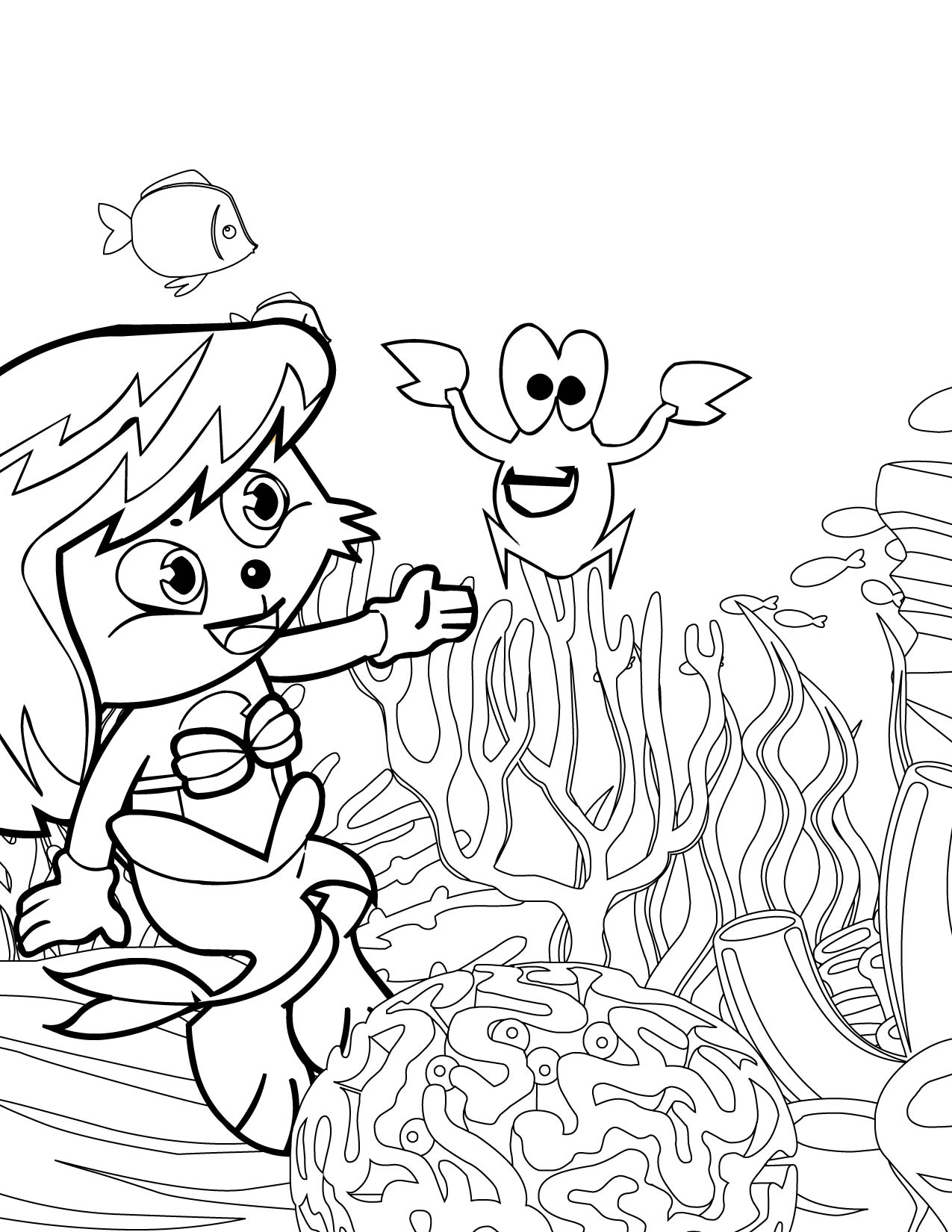 little mermaid coloring page handipoints