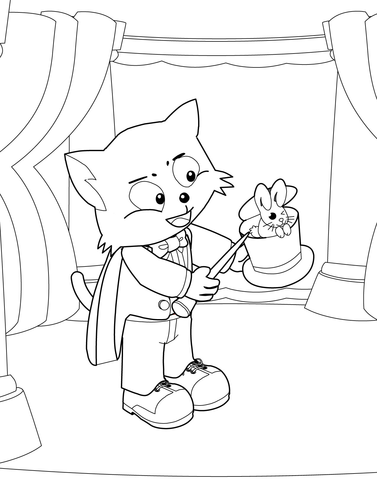 coloring pages magician - photo#9
