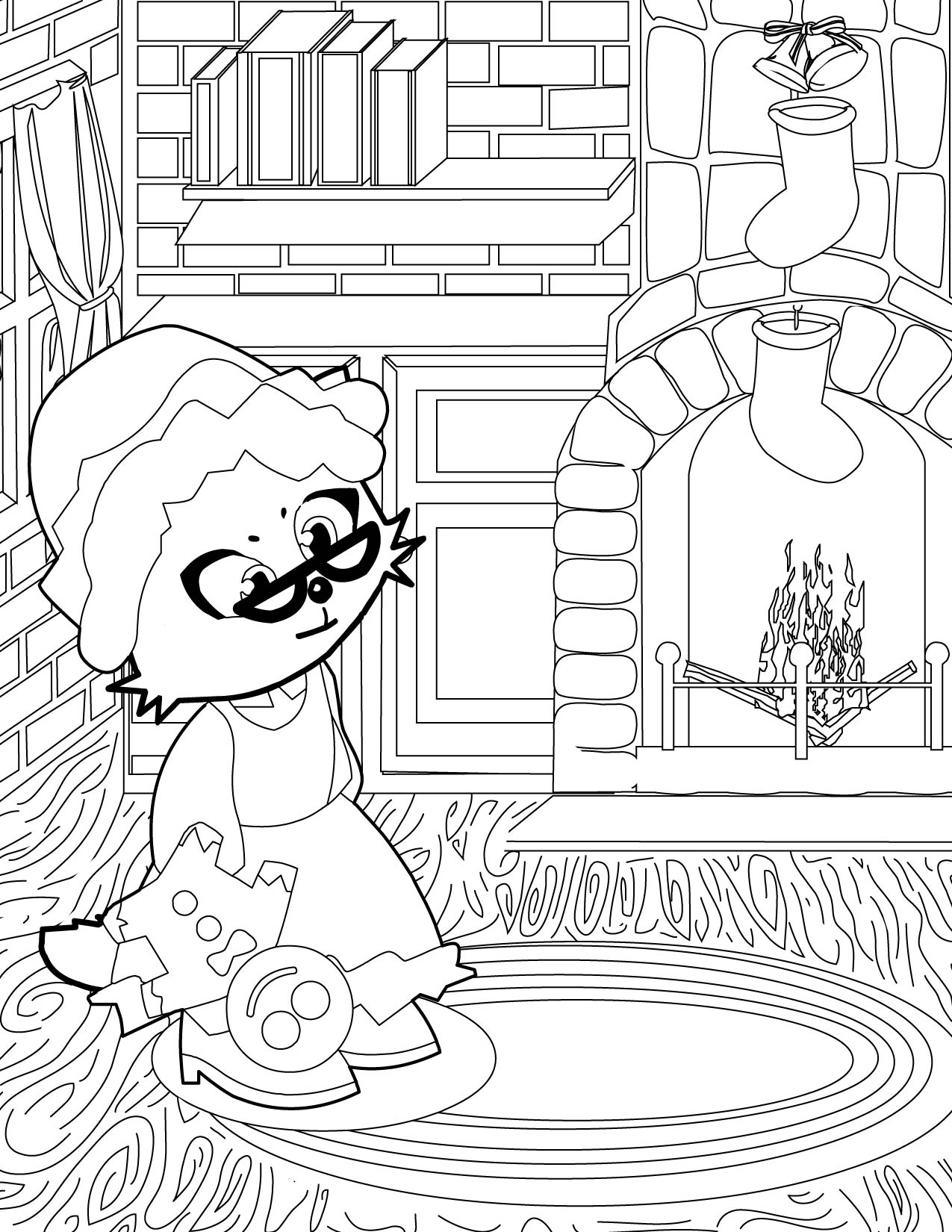 mrs claus - Santa And Mrs Claus Coloring Pages