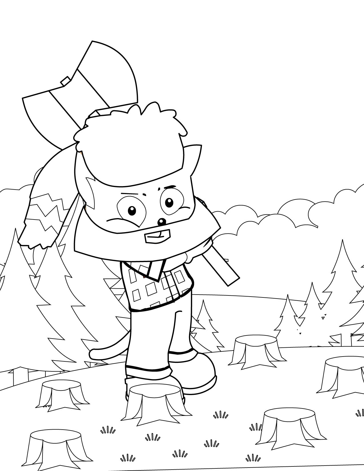 Uncategorized Paul Bunyan Coloring Page paul bunyan coloring page handipoints bunyan