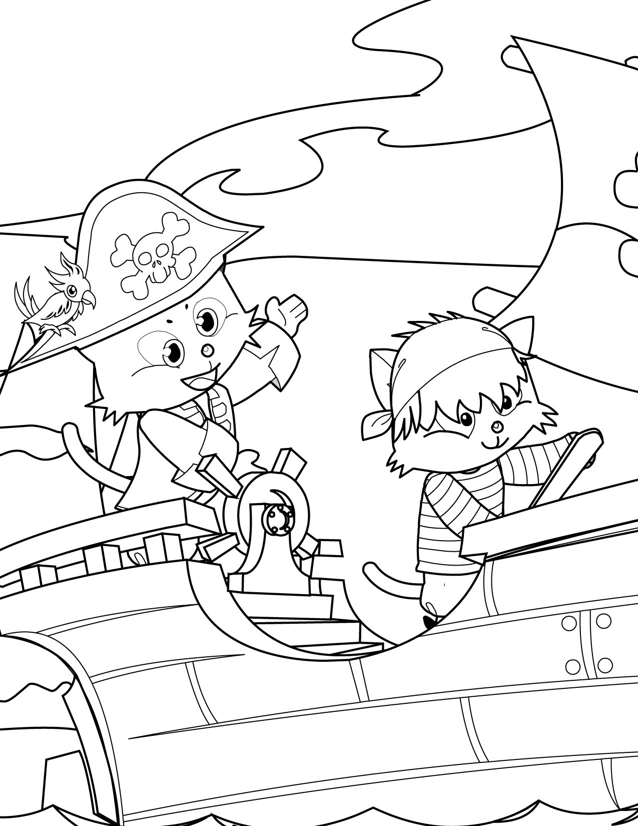 Free coloring pages pirates - Pirate Coloring Page Handipoints