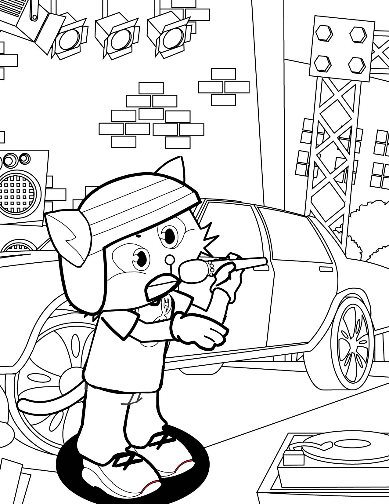 Rapper futurerk0 free colouring pages for Rapper coloring pages