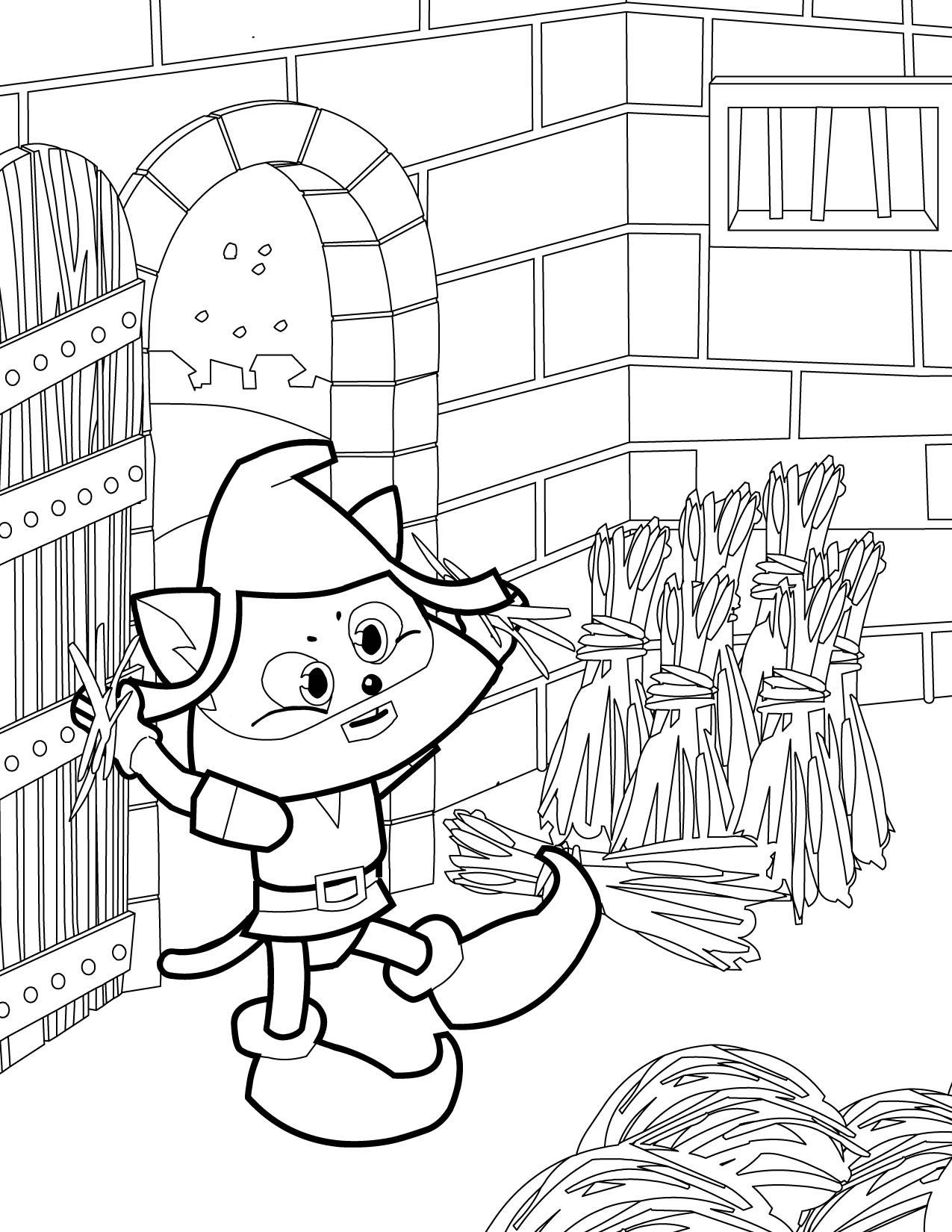 rumpelstiltskin coloring page handipoints