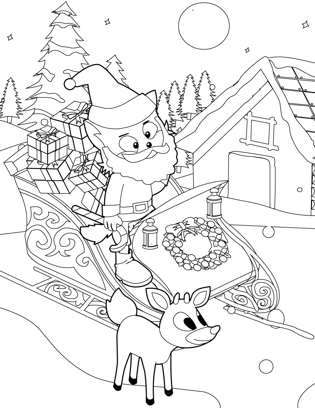 free coloring pages winter wonderland - photo#21