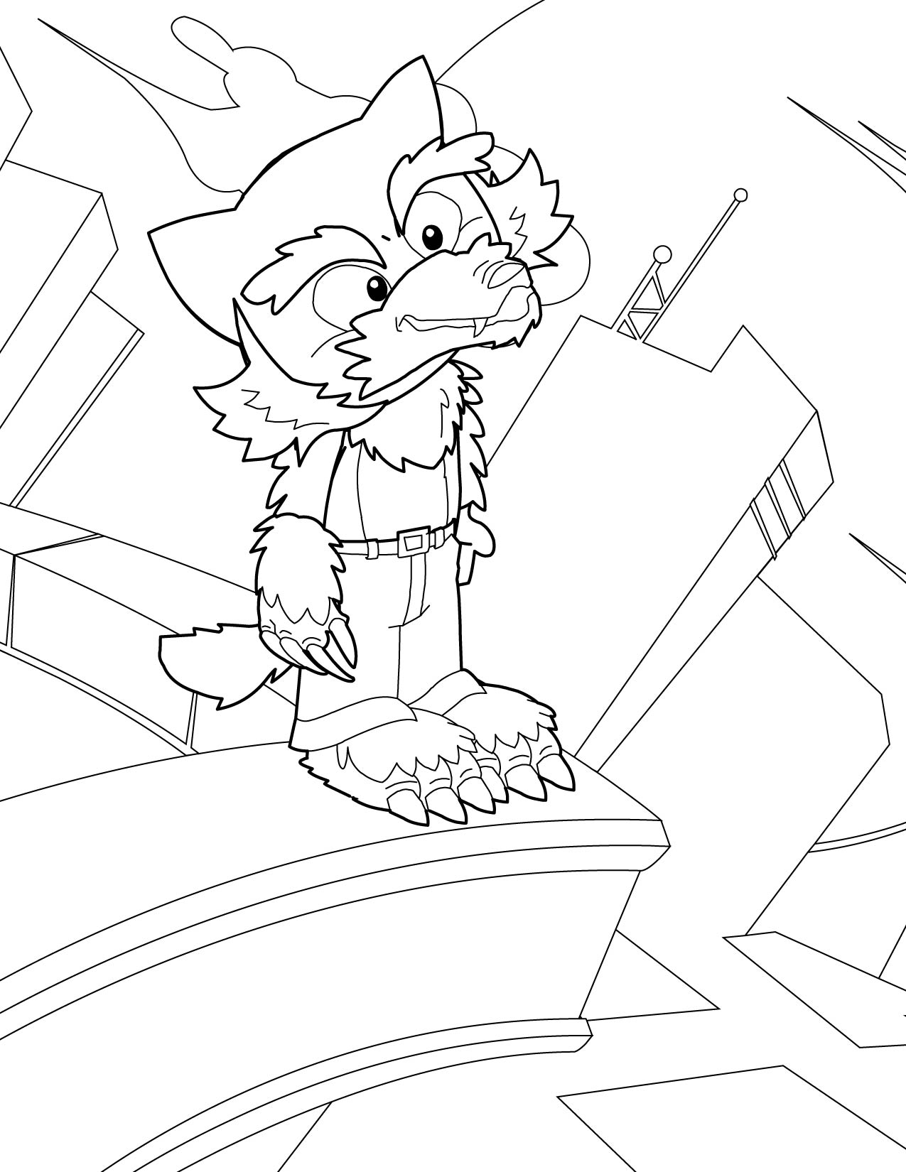 halloween coloring pages coloring pages werewolf - Halloween Werewolf Coloring Pages