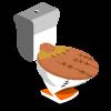 Baseball Toilet