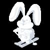 Ski Bunny Snow Sculpture