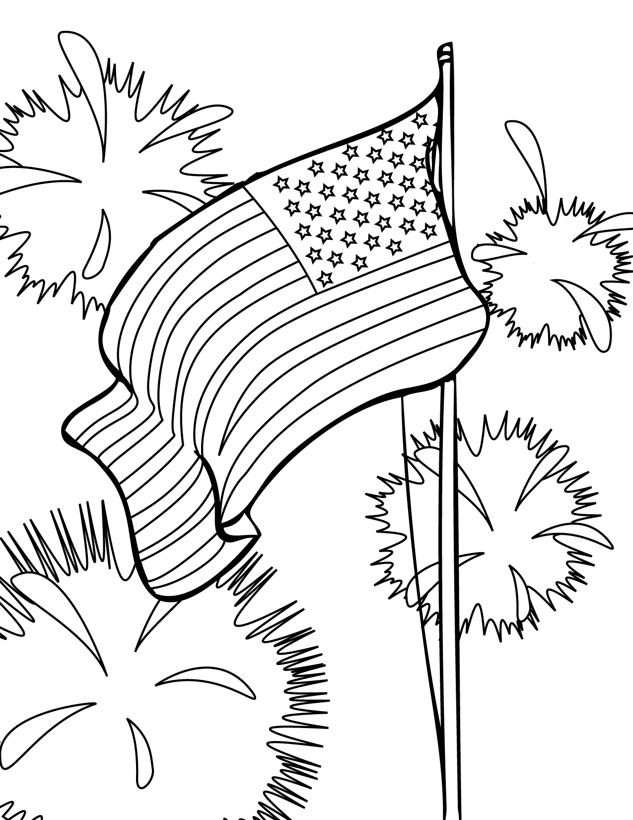 4th of July Coloring Page Handipoints