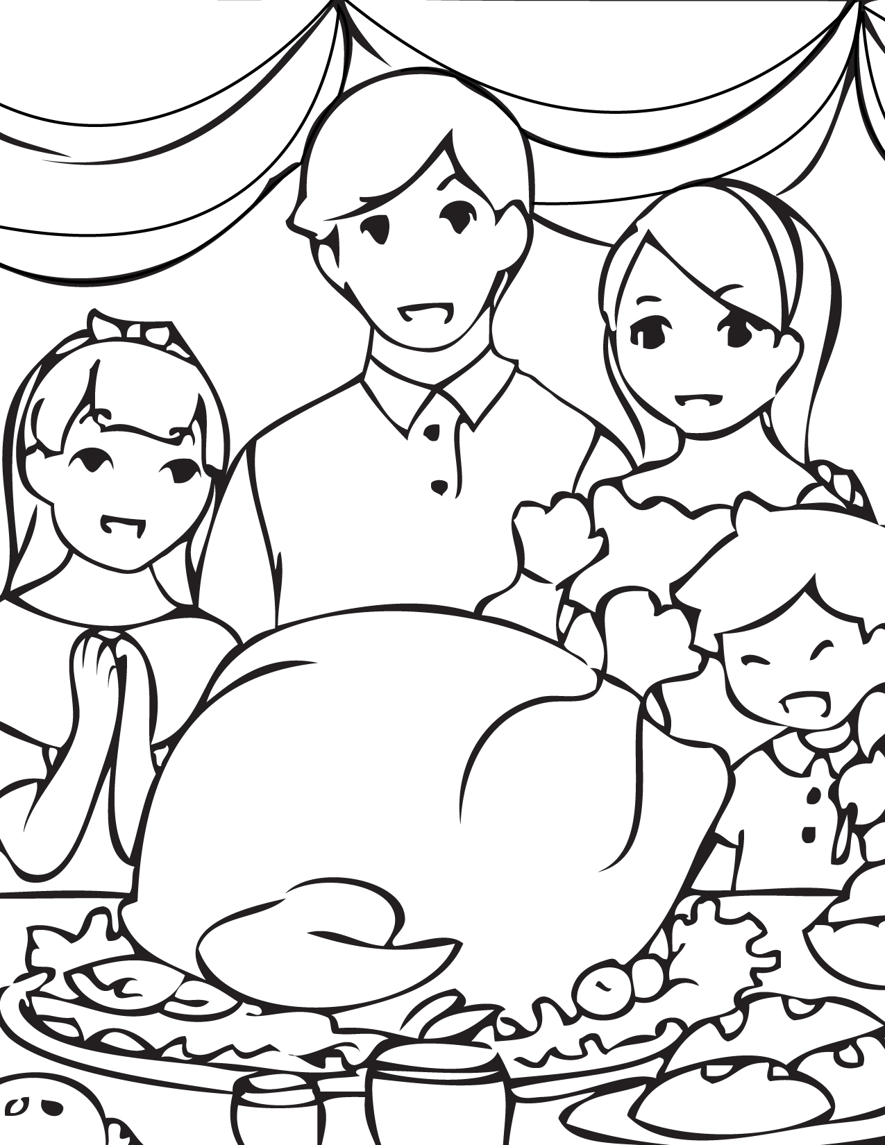 thanksgiving coloring page handipoints