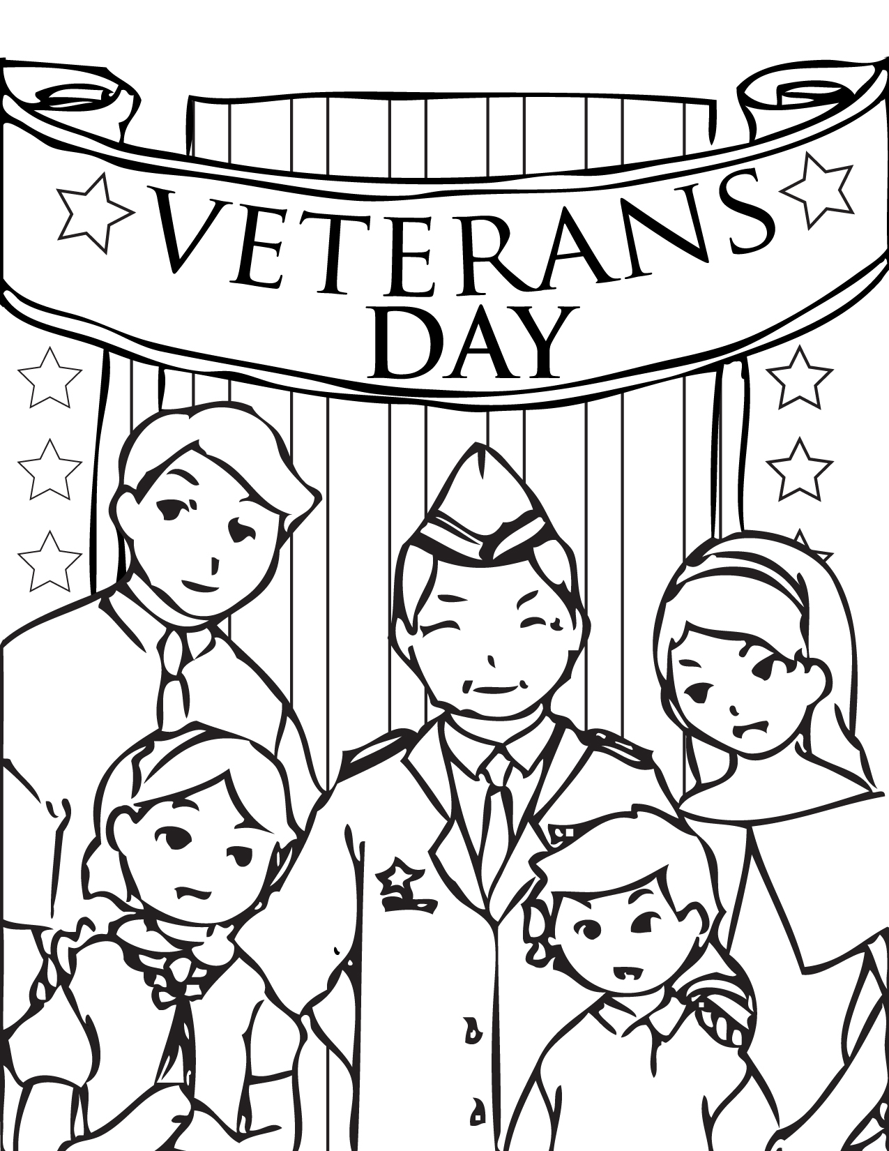 Veterans Day Coloring Page Handipoints