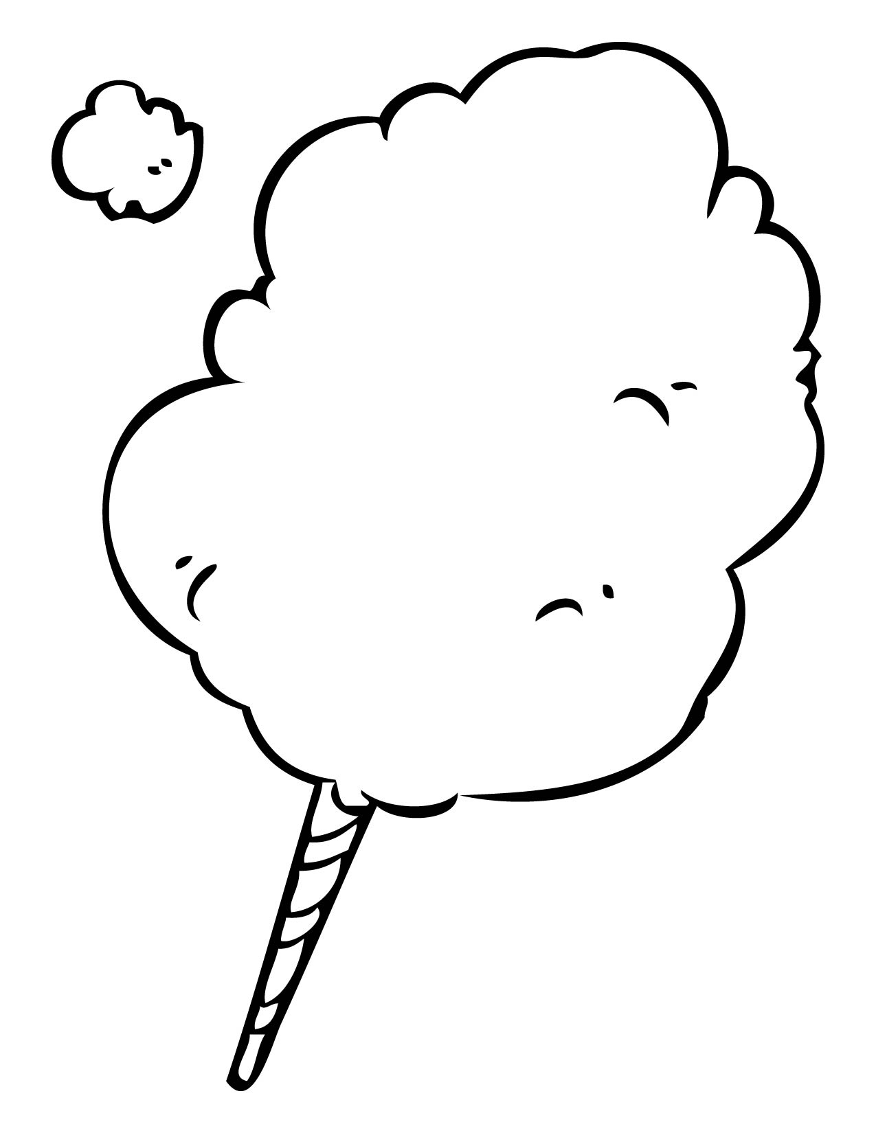 Coloring pages candy - Cotton Candy