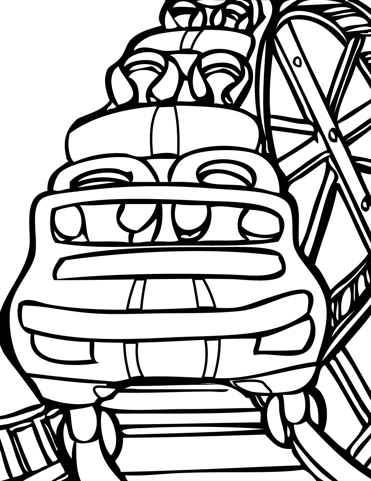 Rollercoaster Coloring Page