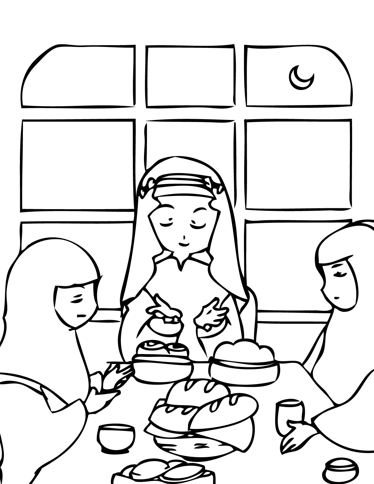 Ramadan coloring page handipoints for Ramadan coloring pages