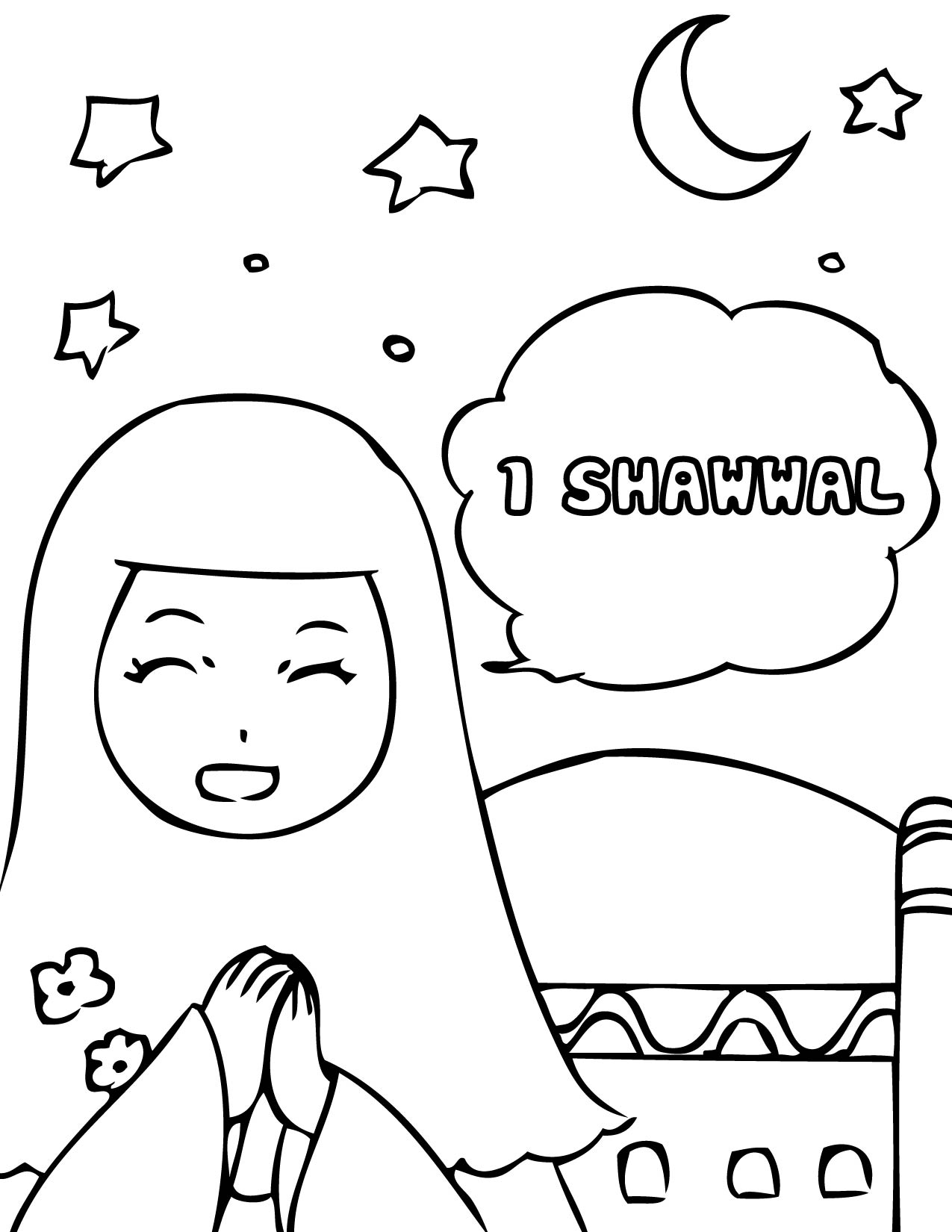 Eid colouring in sheets - Eid Coloring Page For Kids Family Holiday Net Guide To