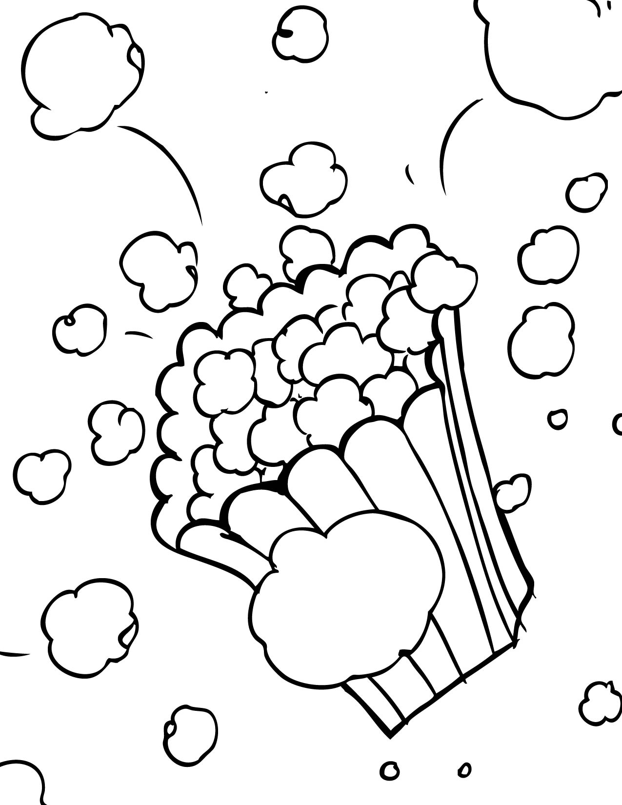 popcorn printable coloring pages - photo#8