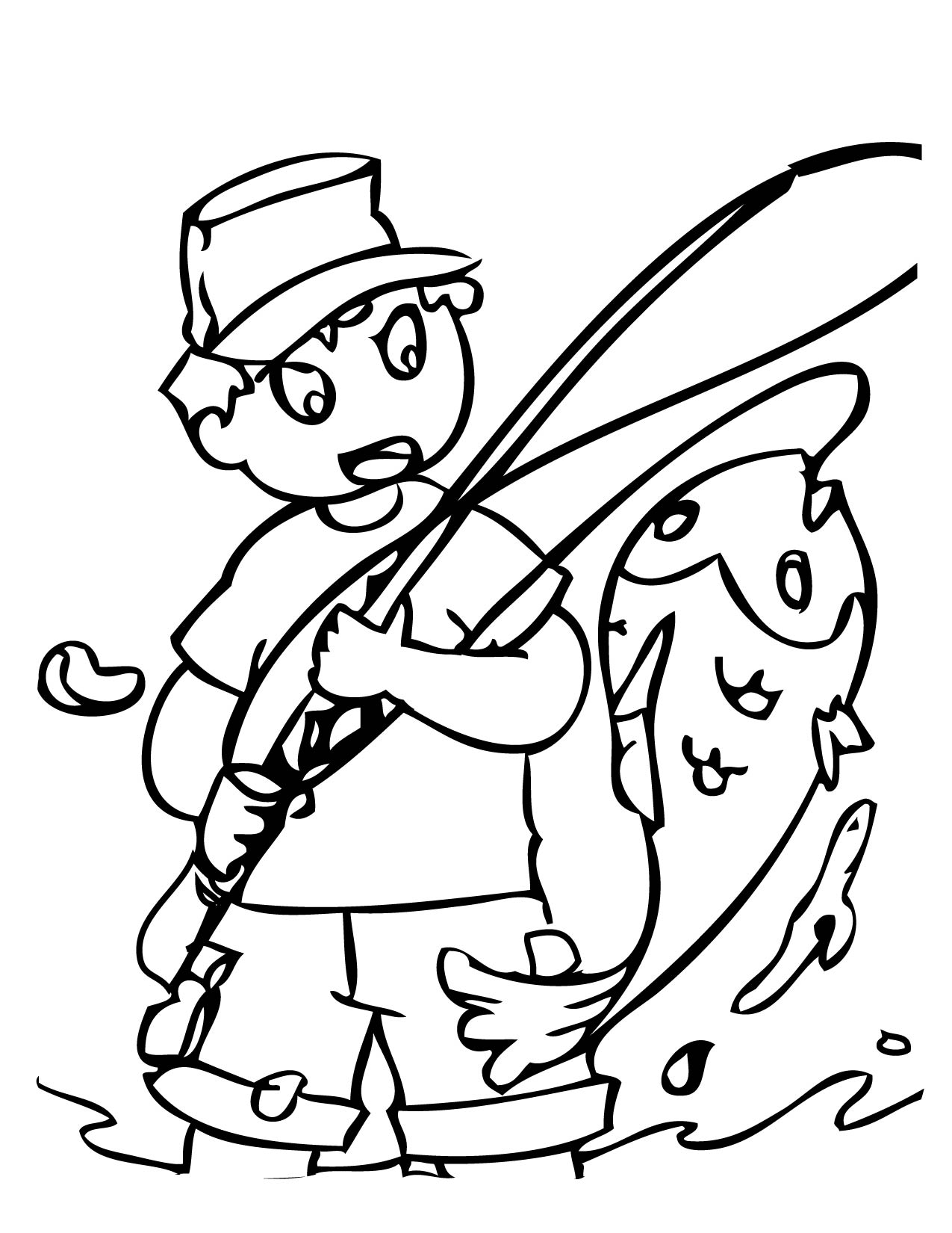 Fishing Coloring Page Handipoints