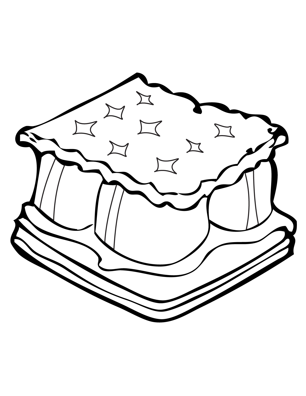 smores - Camping Coloring Pages