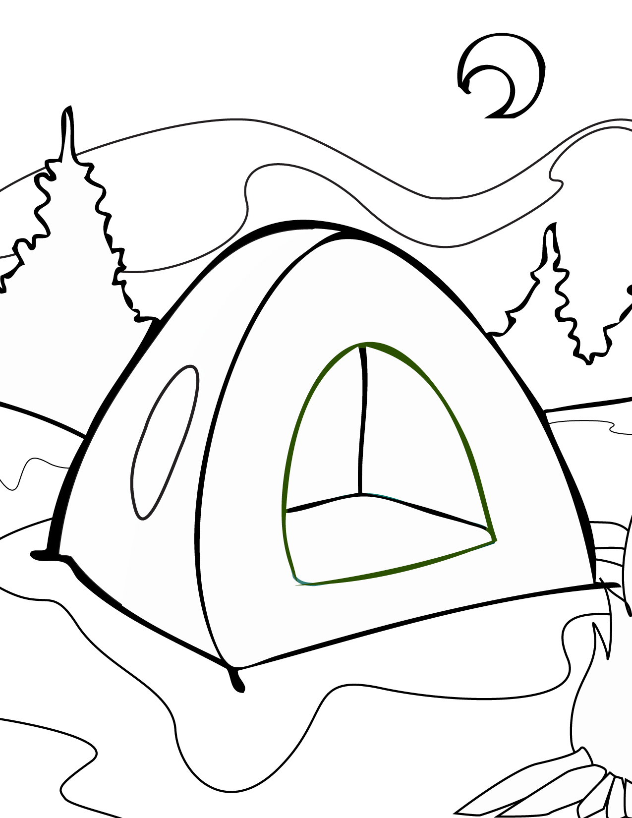 Tent Coloring Page Handipoints