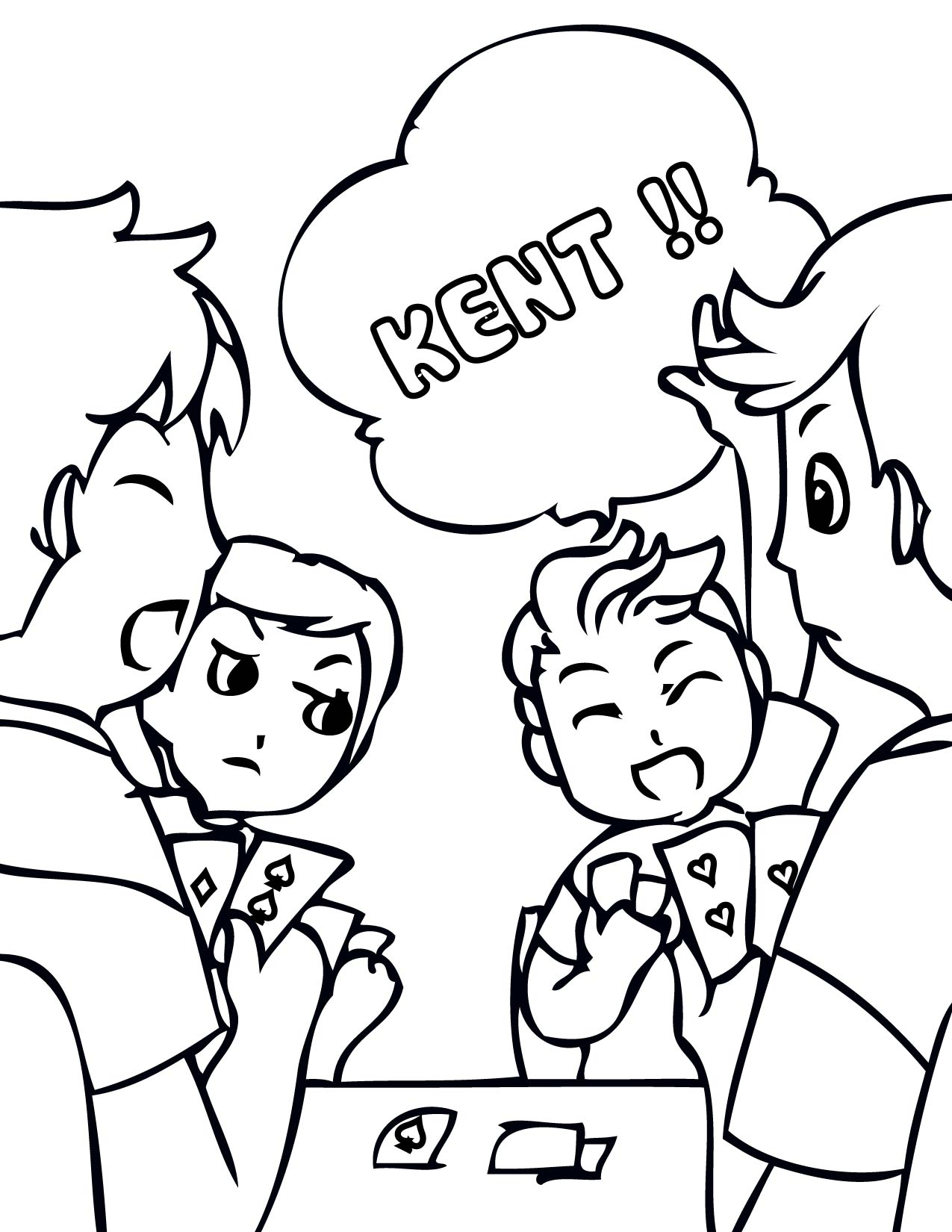card game coloring pages - photo#3