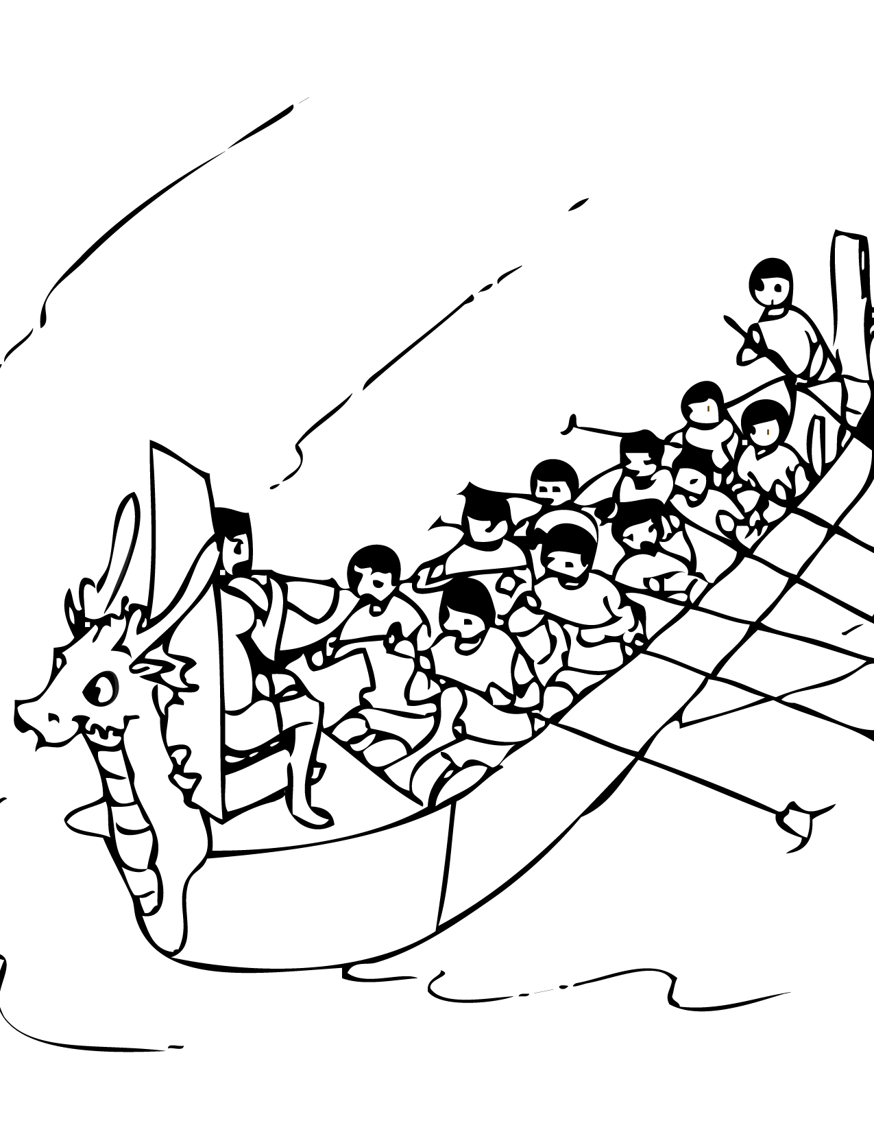 Dragon Boat Festival Coloring Page