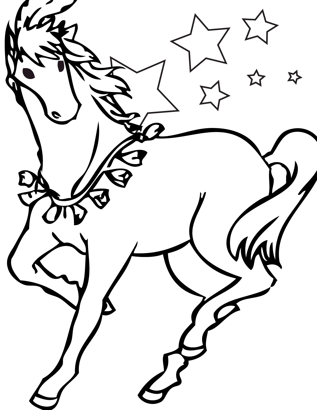 Horse Acts Coloring Page