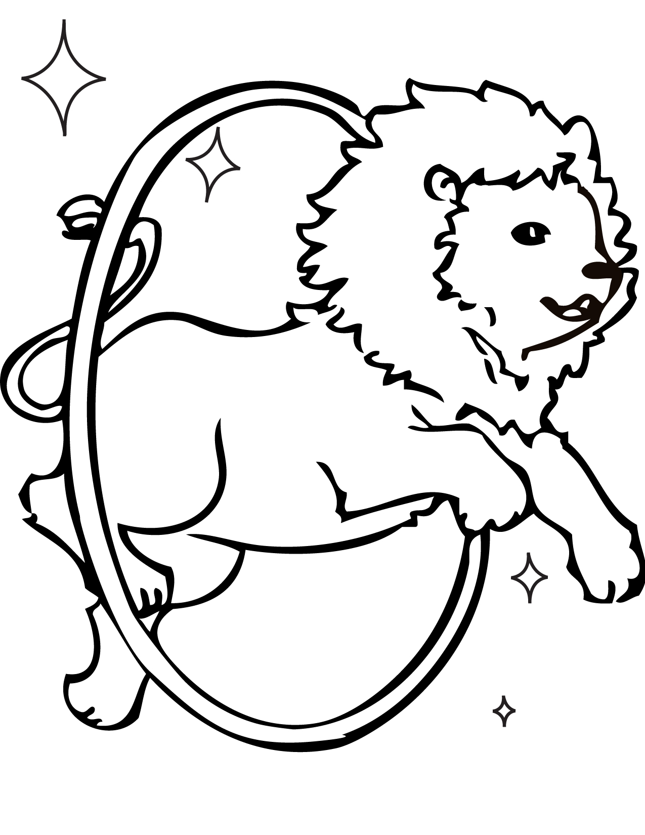 lion taming coloring page handipoints