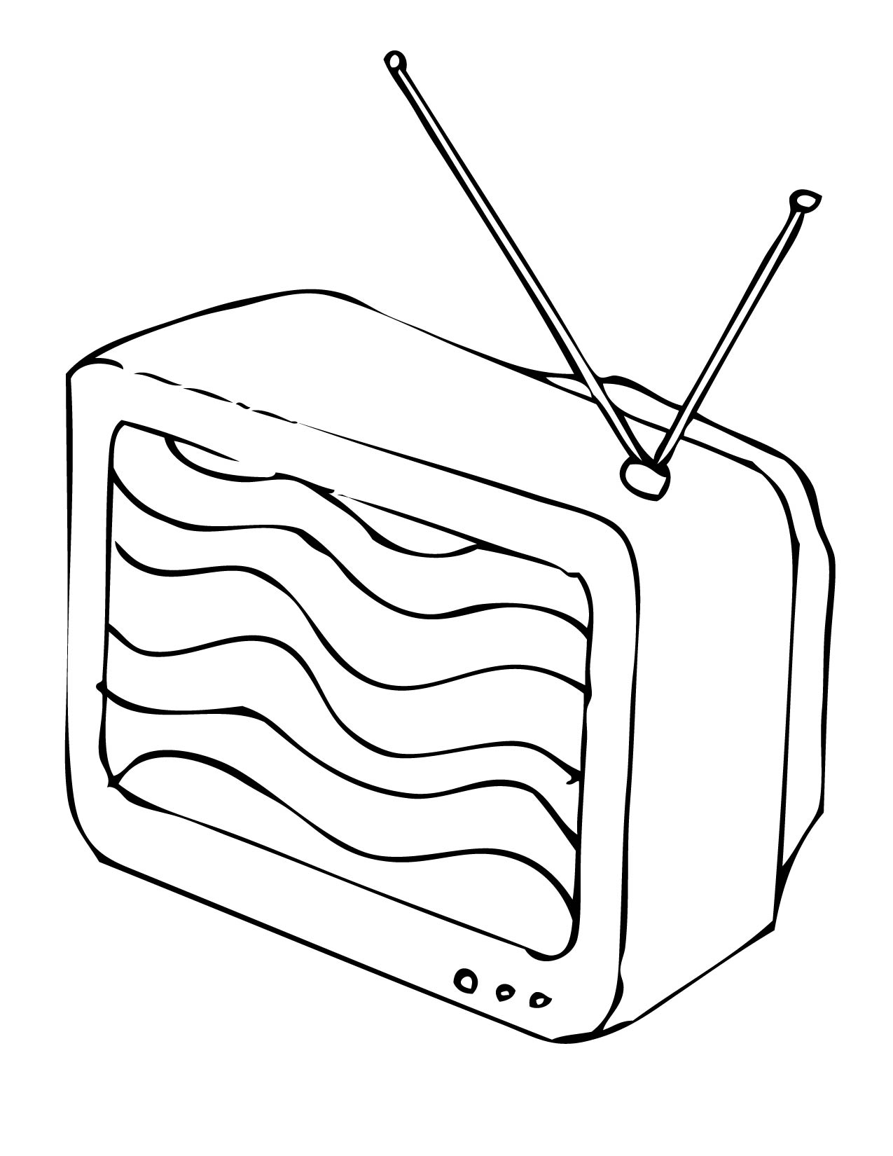 T v colouring pages for Tv coloring page