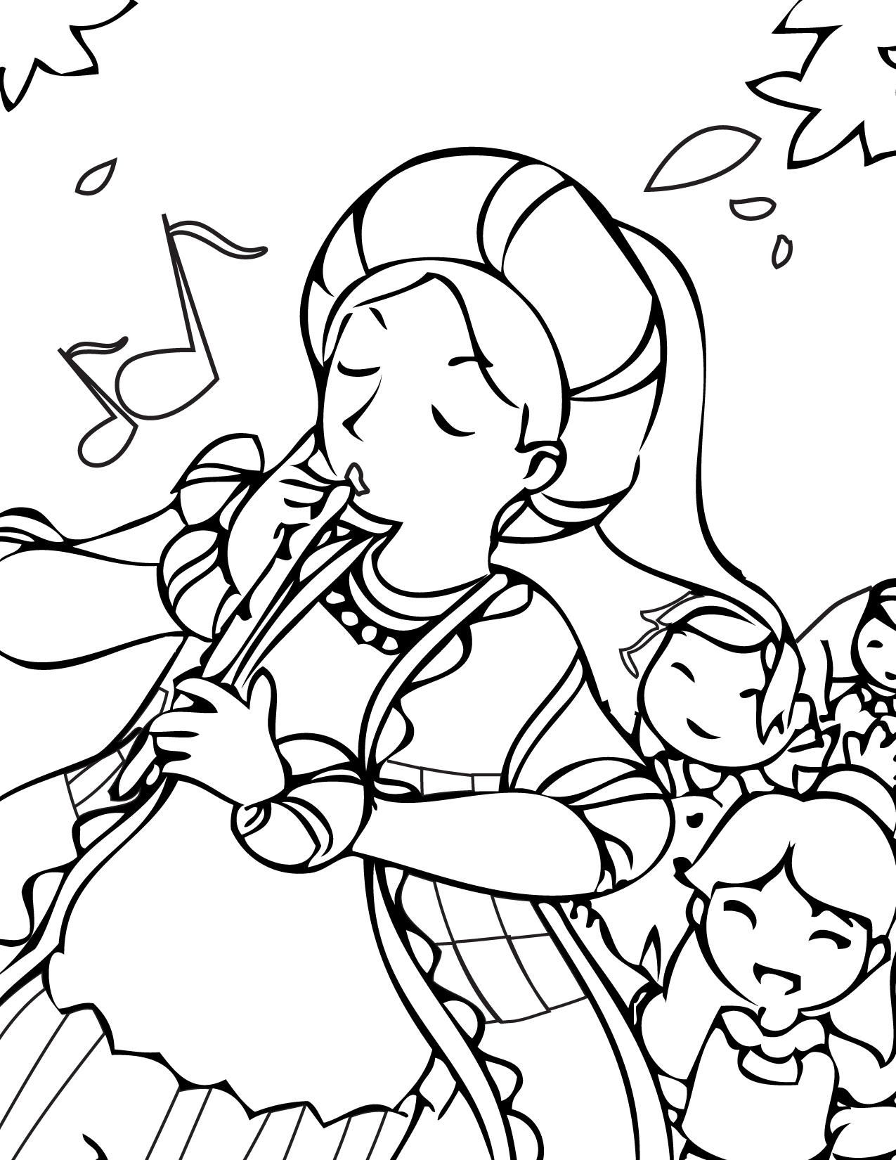 the pied piper coloring page handipoints