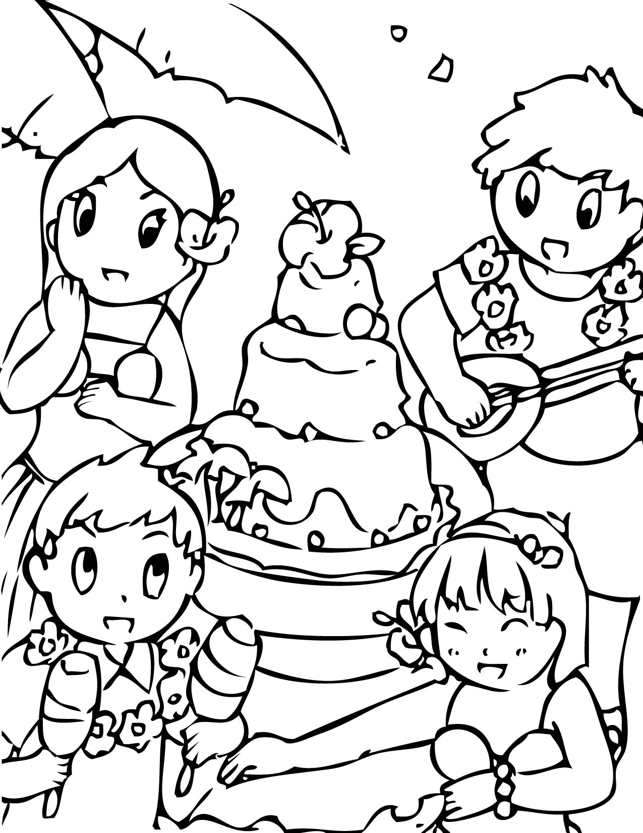 Luau Coloring Page Handipoints