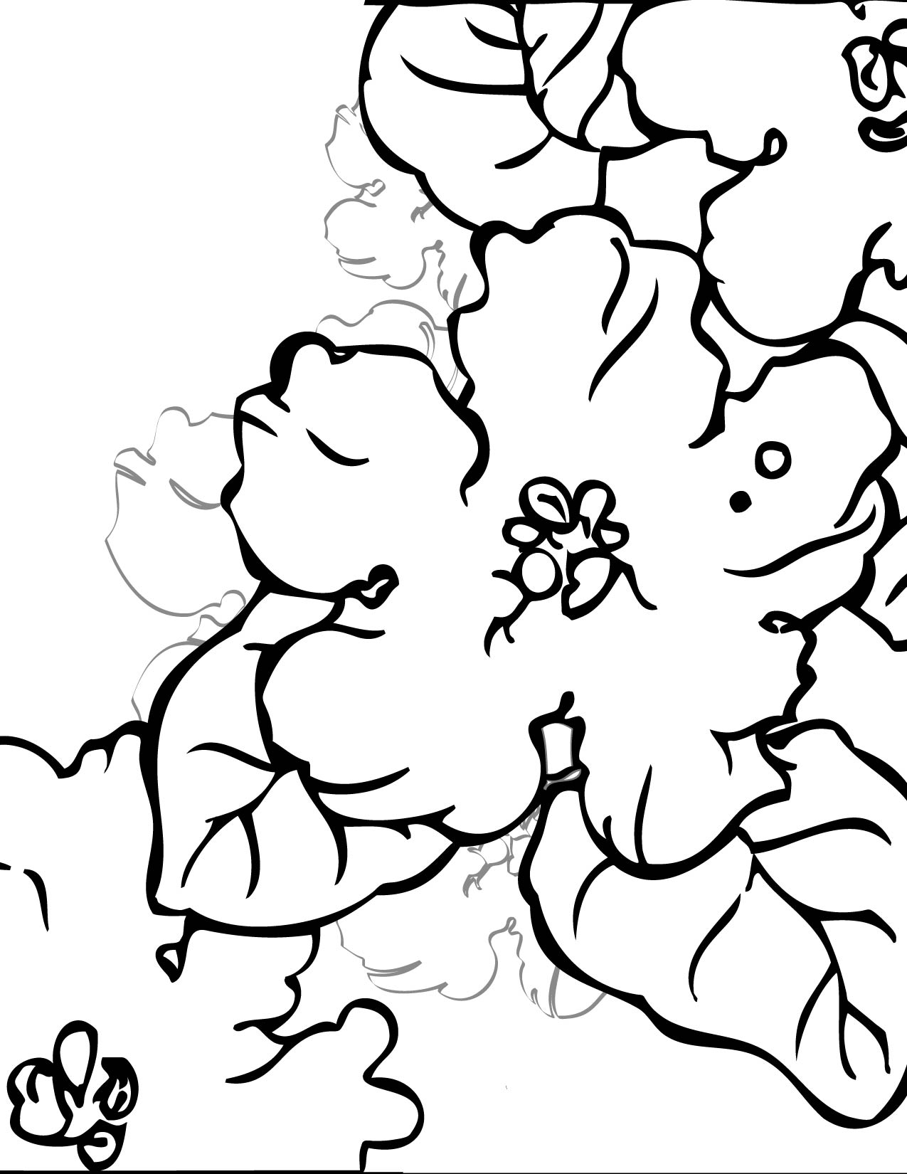 african violet coloring page handipoints