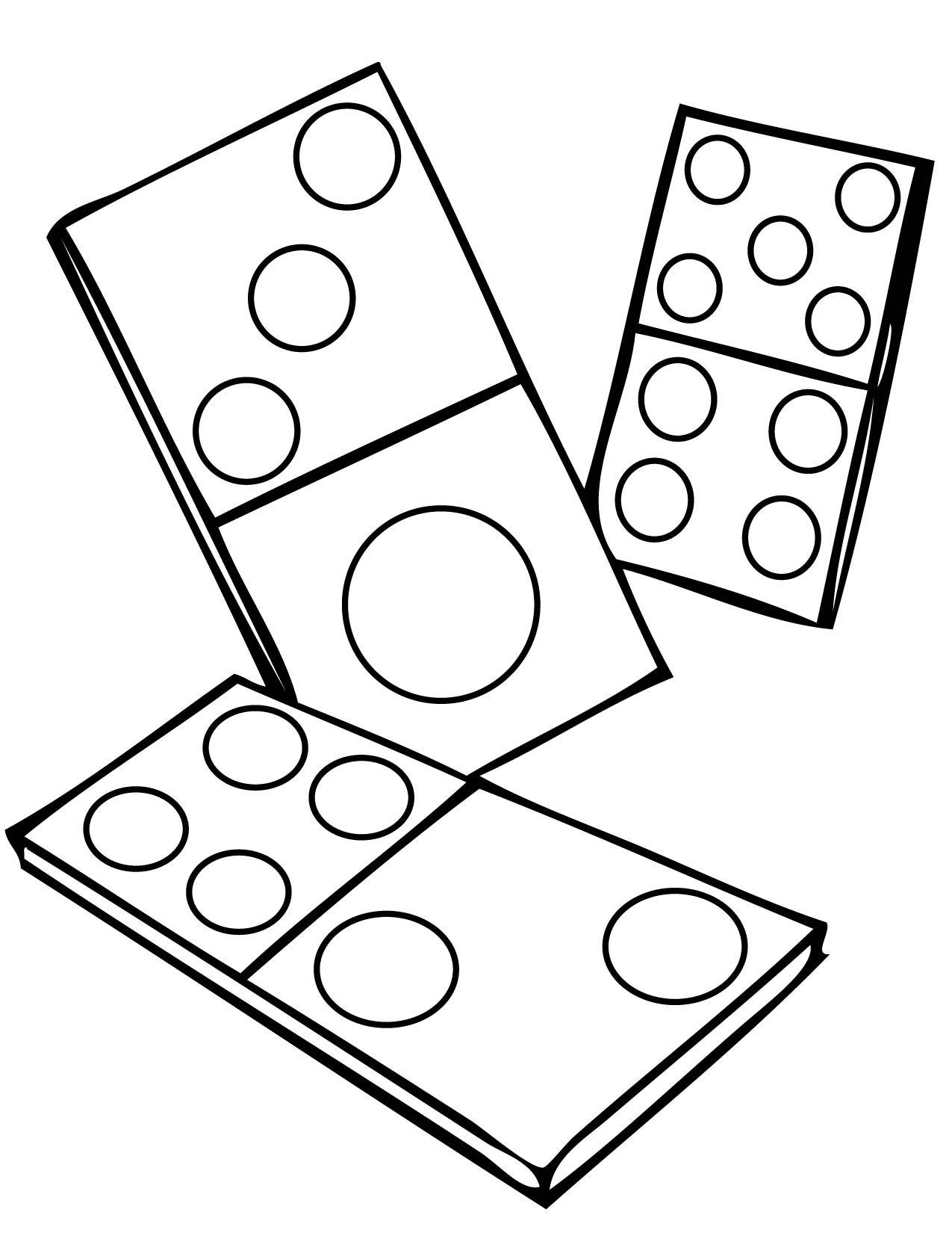 Dominoes Coloring Page  Handipoints