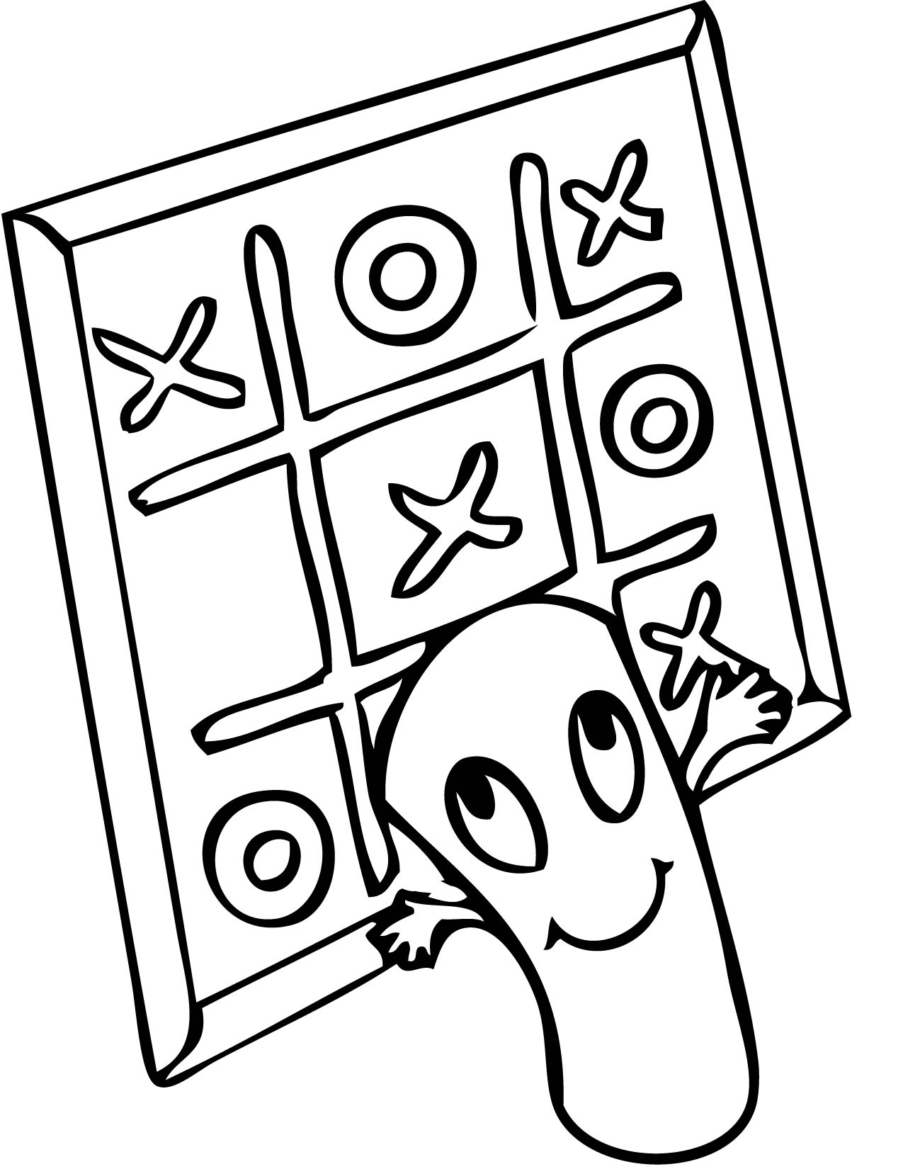 games coloring pages coloring pages tic tac toe