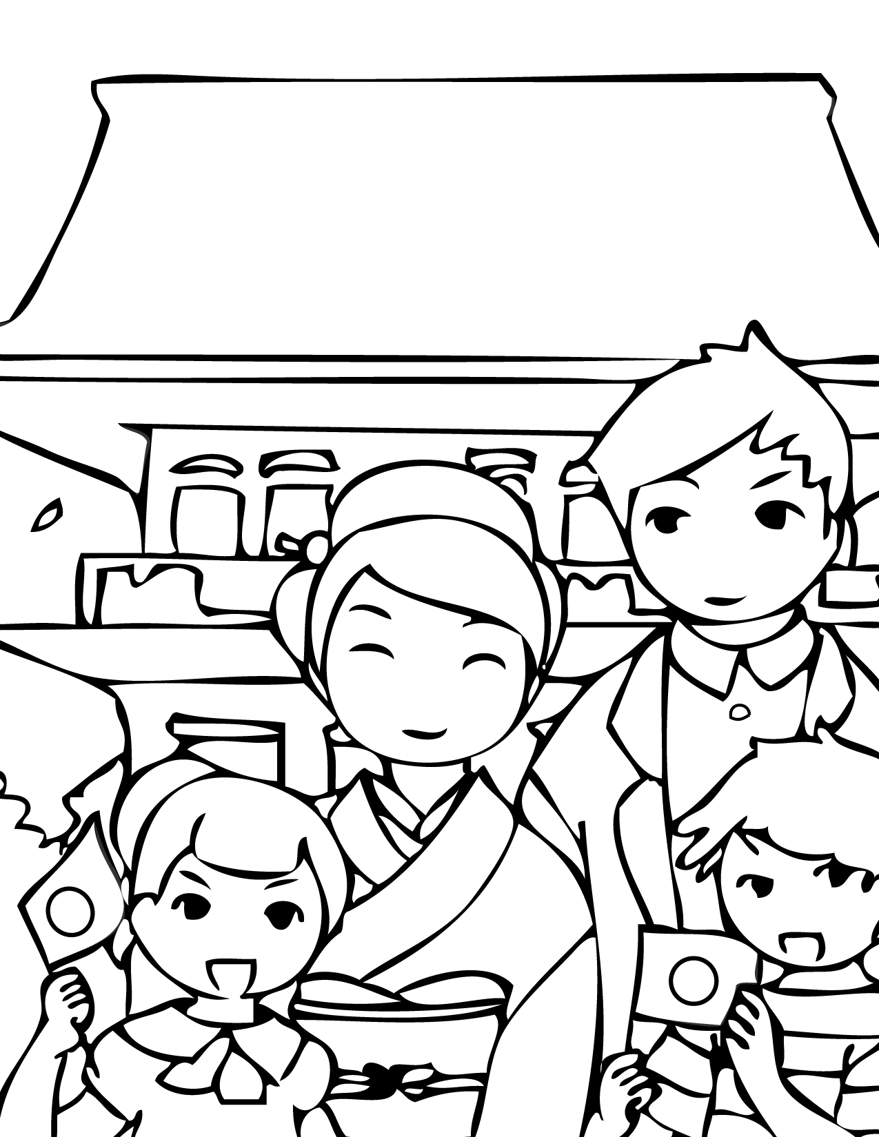 japanese holidays coloring pages handipoints