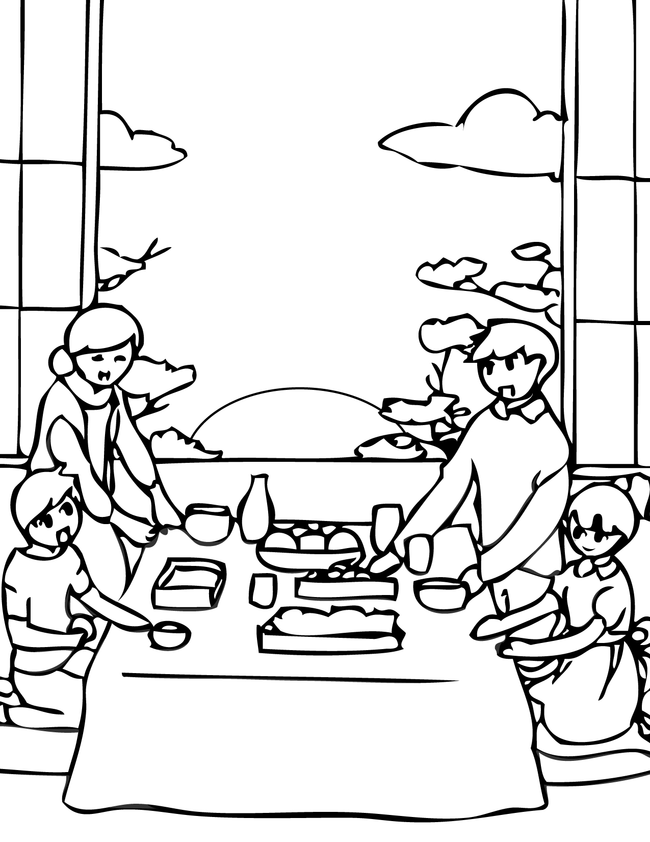 new year u0027s day coloring page handipoints