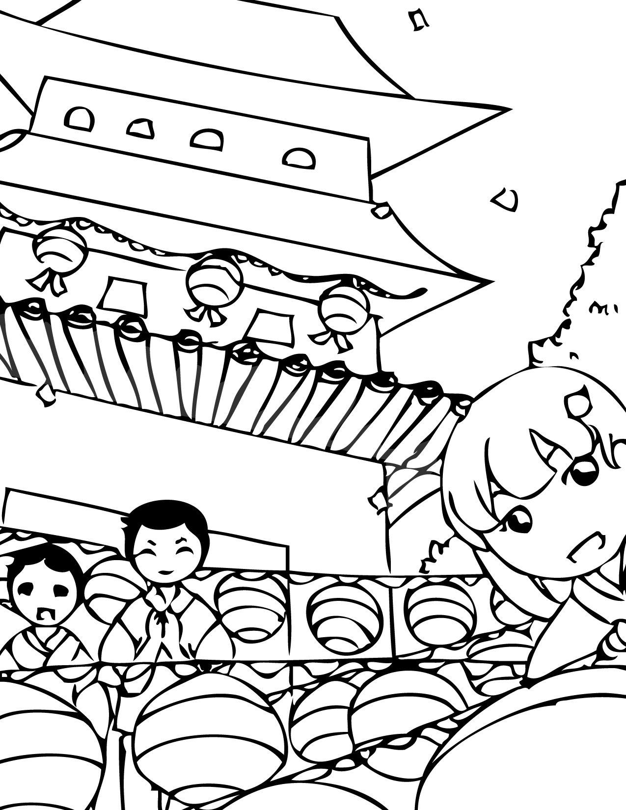 korean coloring pages - photo#21