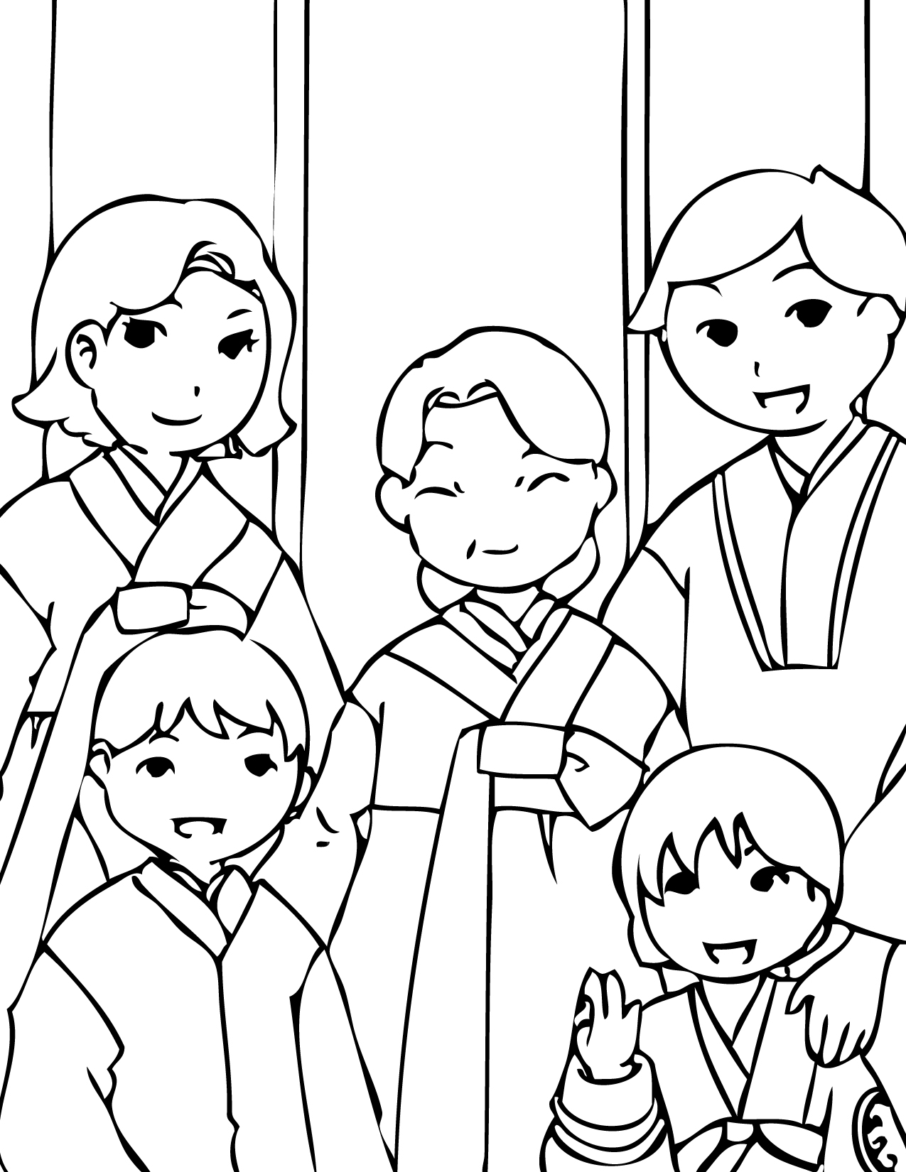 korean new year coloring page handipoints