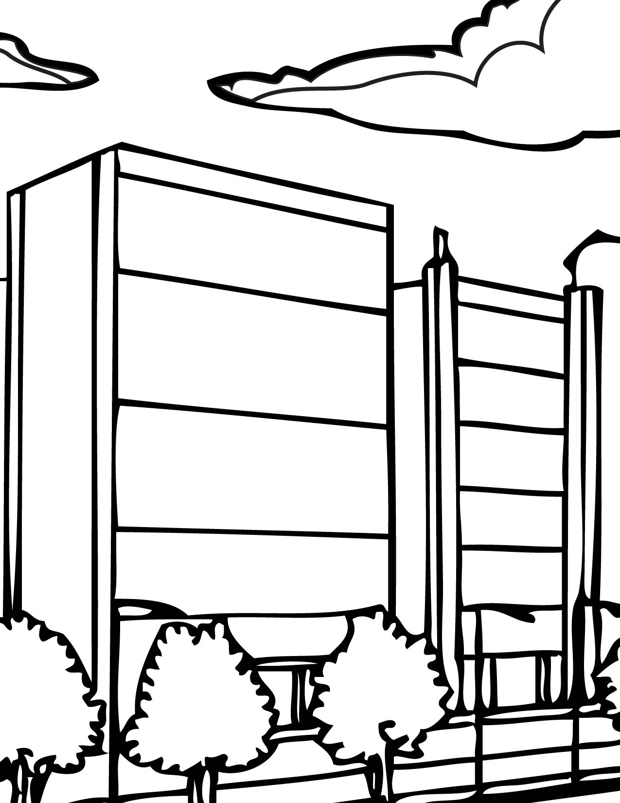 City Coloring Page Handipoints