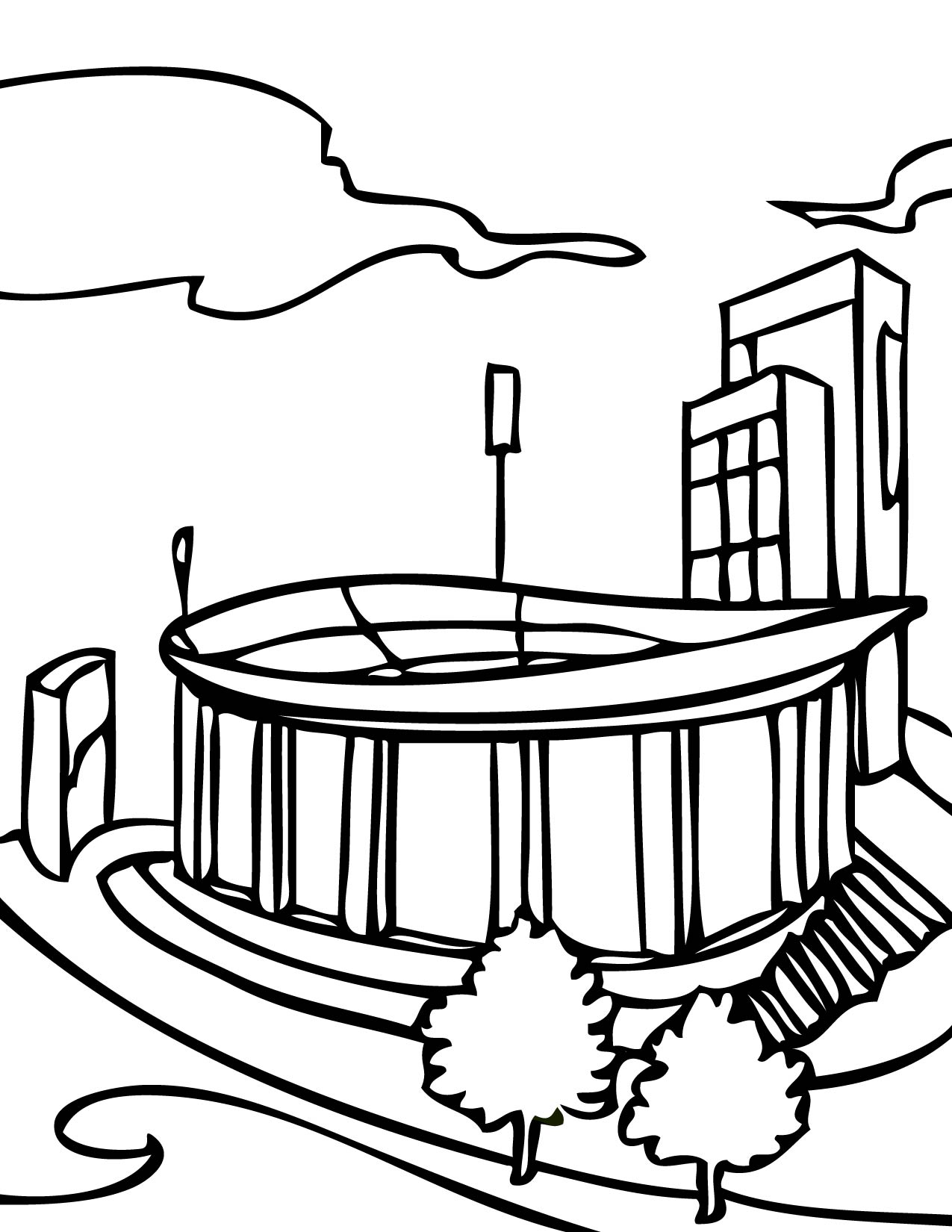 Yankee Stadium Coloring Pages | Coloring Pages