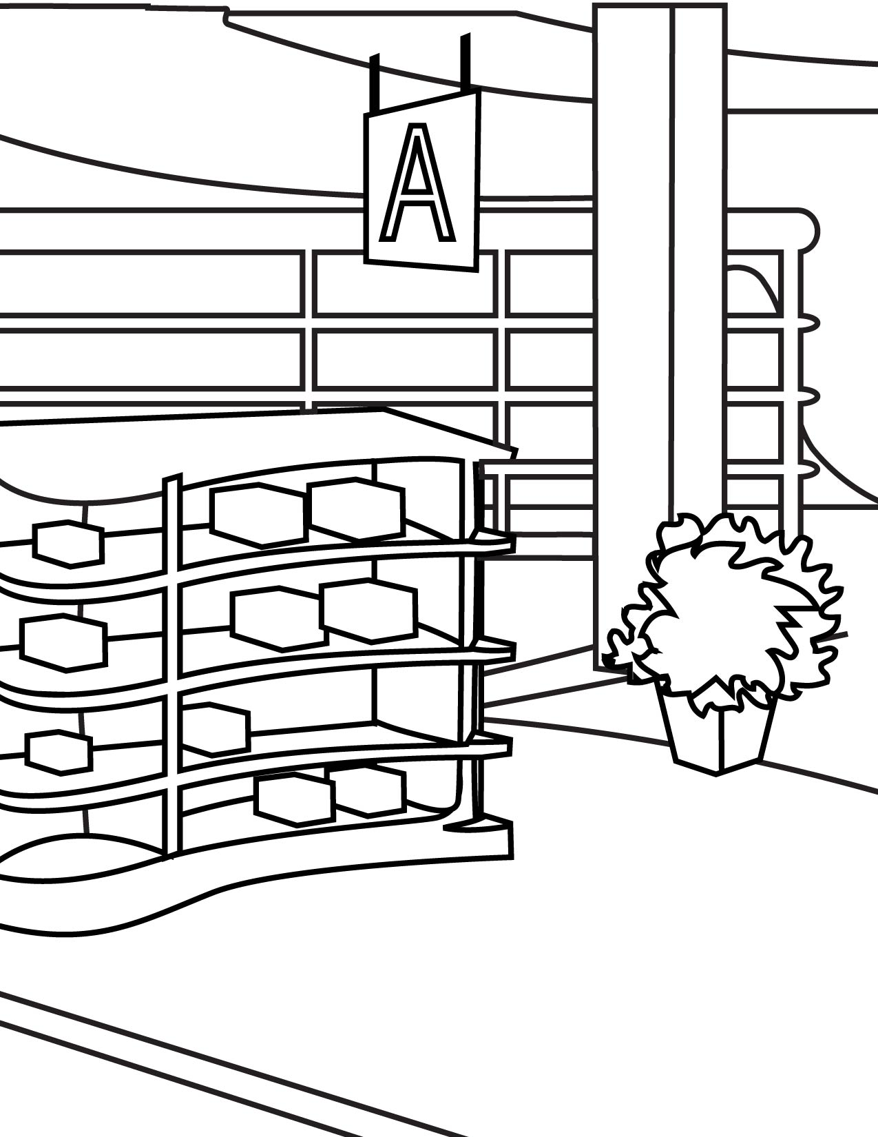 supermarket coloring pages - photo#31