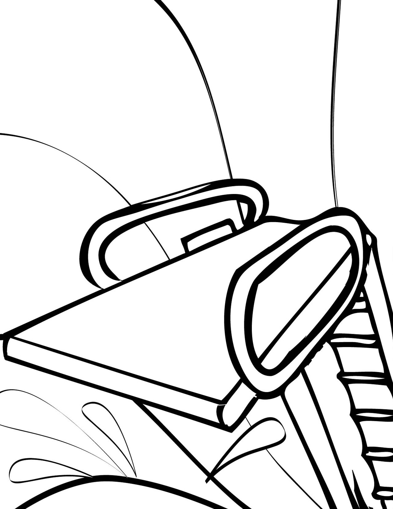 Diving Board Coloring Page - Handipoints