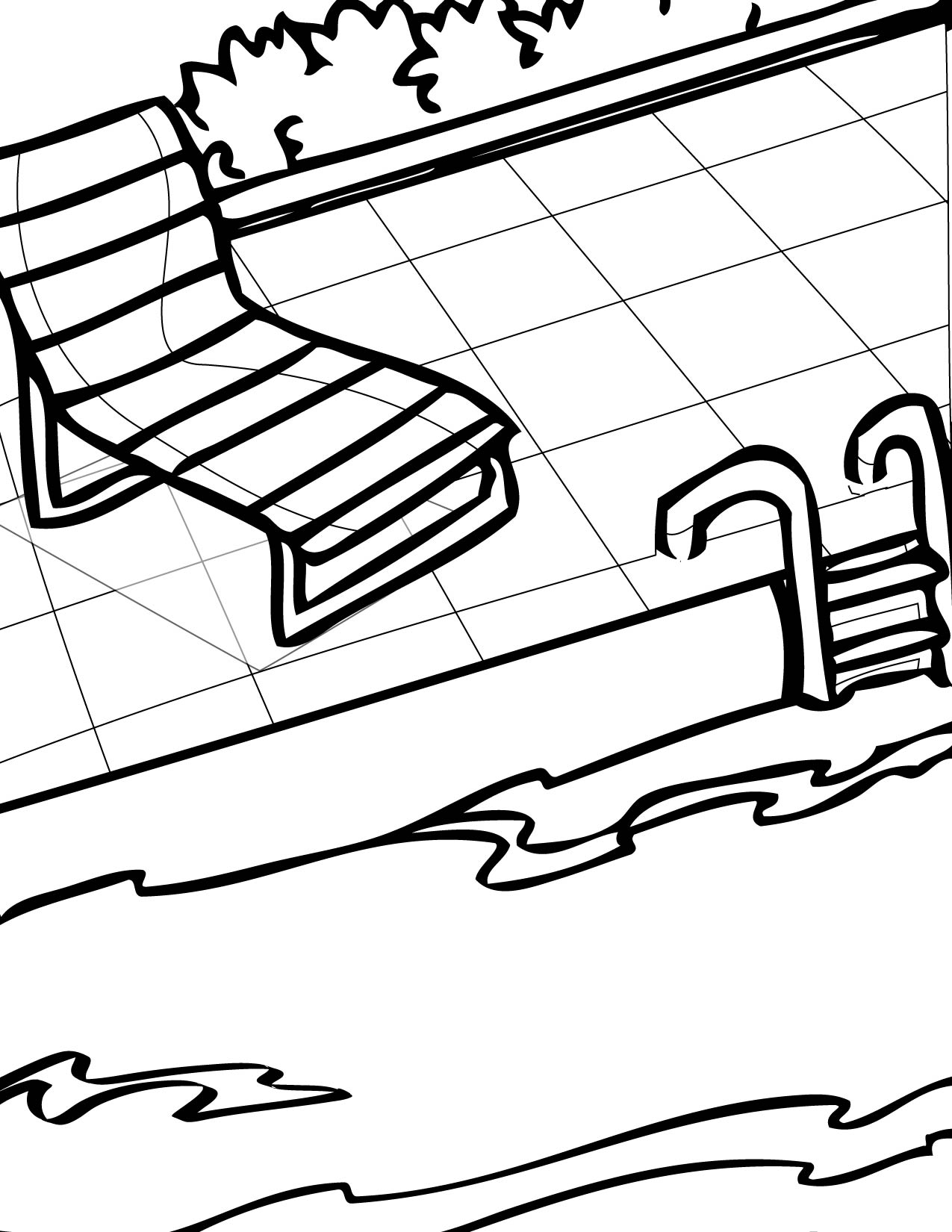 Pool Coloring Page Handipoints Pool Coloring Page
